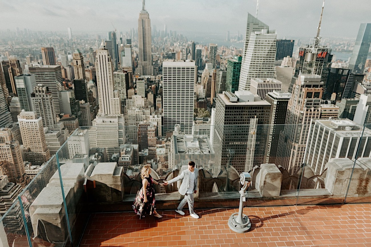 Top Of The Rock Engagement Session NYC Engagement Locations New York Wedding Photographer 16
