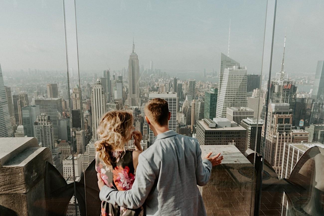 Top Of The Rock Wedding Anniversary NYC Engagement Locations New York Wedding Photographer 33