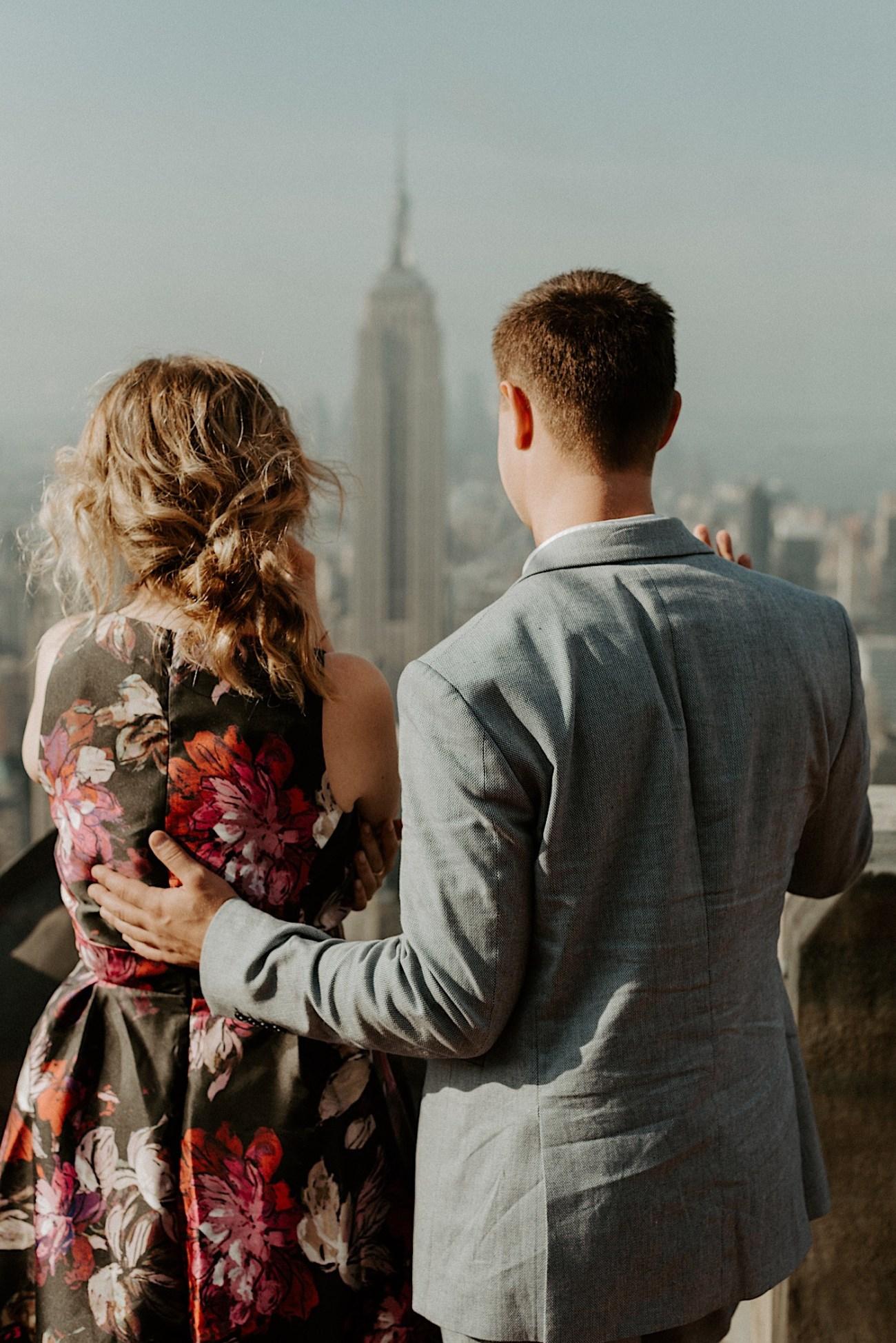 Top Of The Rock Wedding Anniversary NYC Engagement Locations New York Wedding Photographer 34