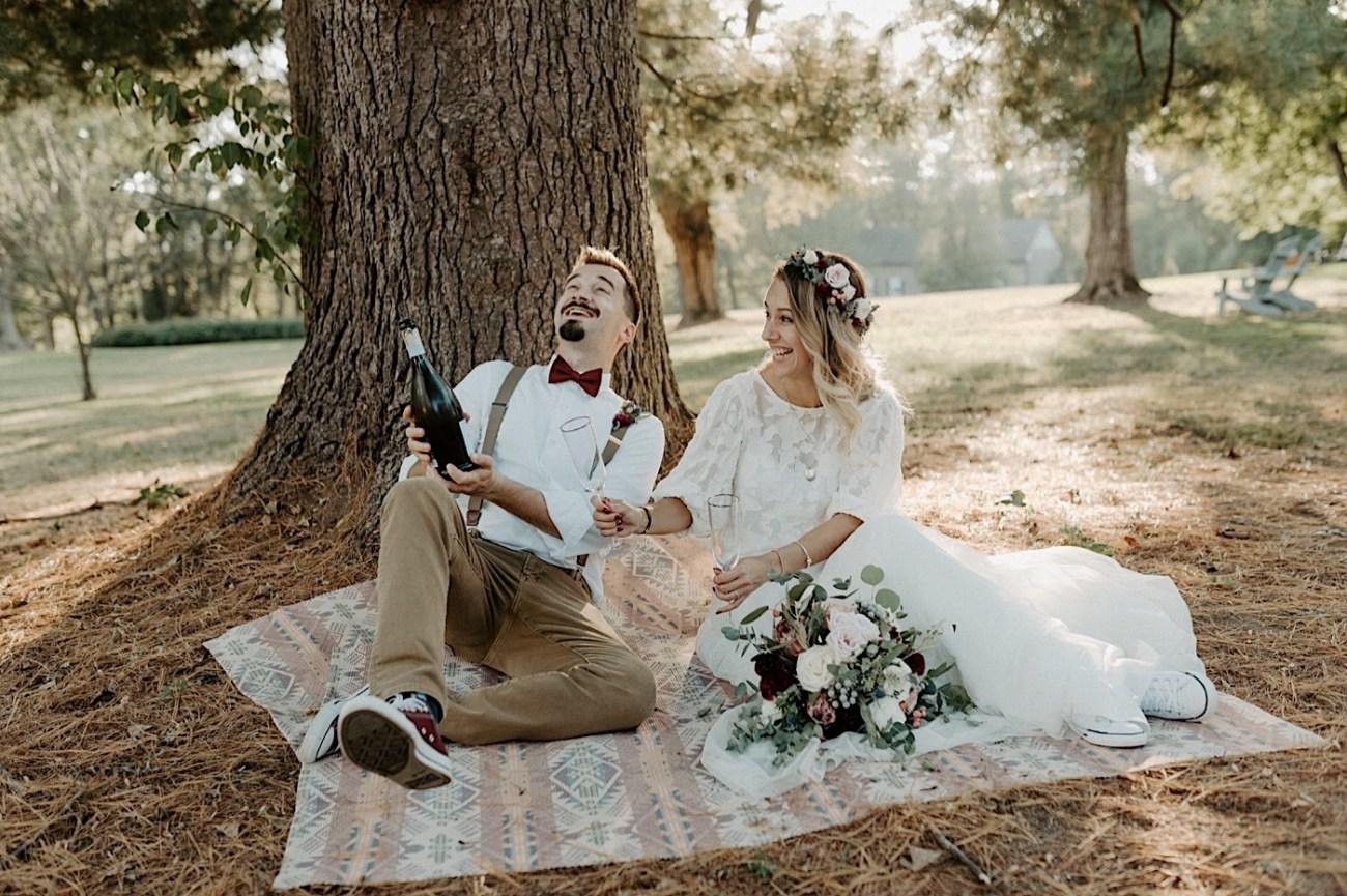 Woolverton Inn Elopement NJ Wedding Photographer Boho Wedding 025