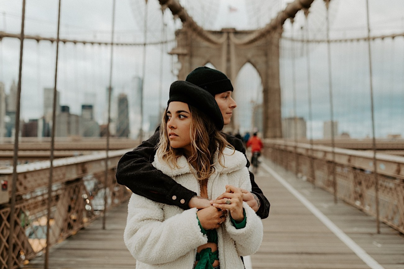 Brooklyn Bridge Engagement Photos Brooklyn Engagement Session 011