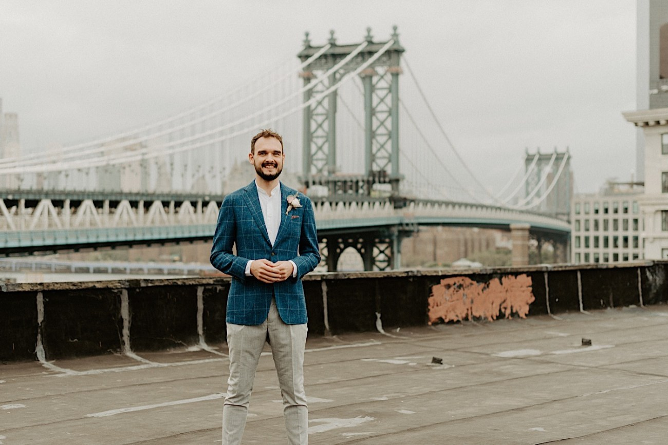 Brooklyn Elopement NYC Rooftop Wedding New York Wedding Photographer 014