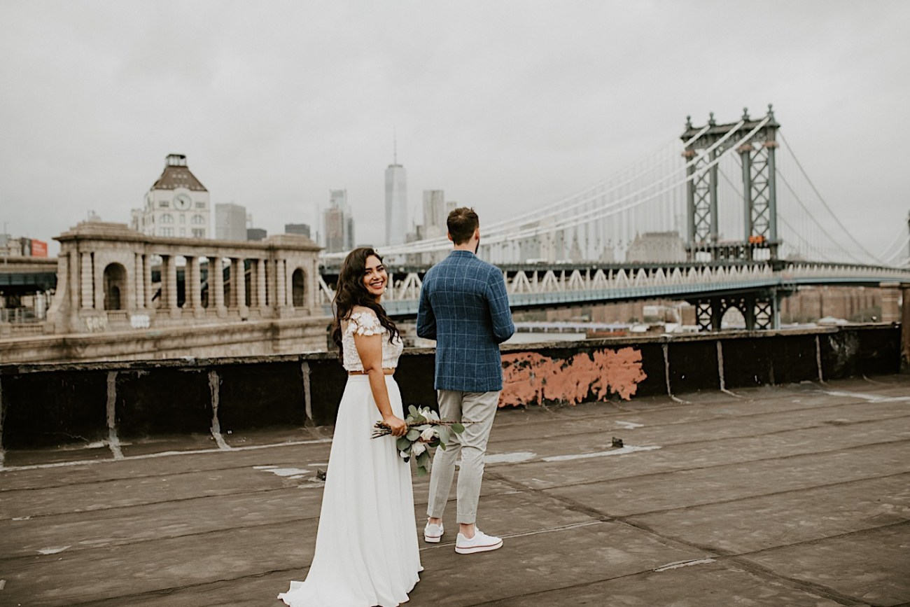 Brooklyn Elopement NYC Rooftop Wedding New York Wedding Photographer 017
