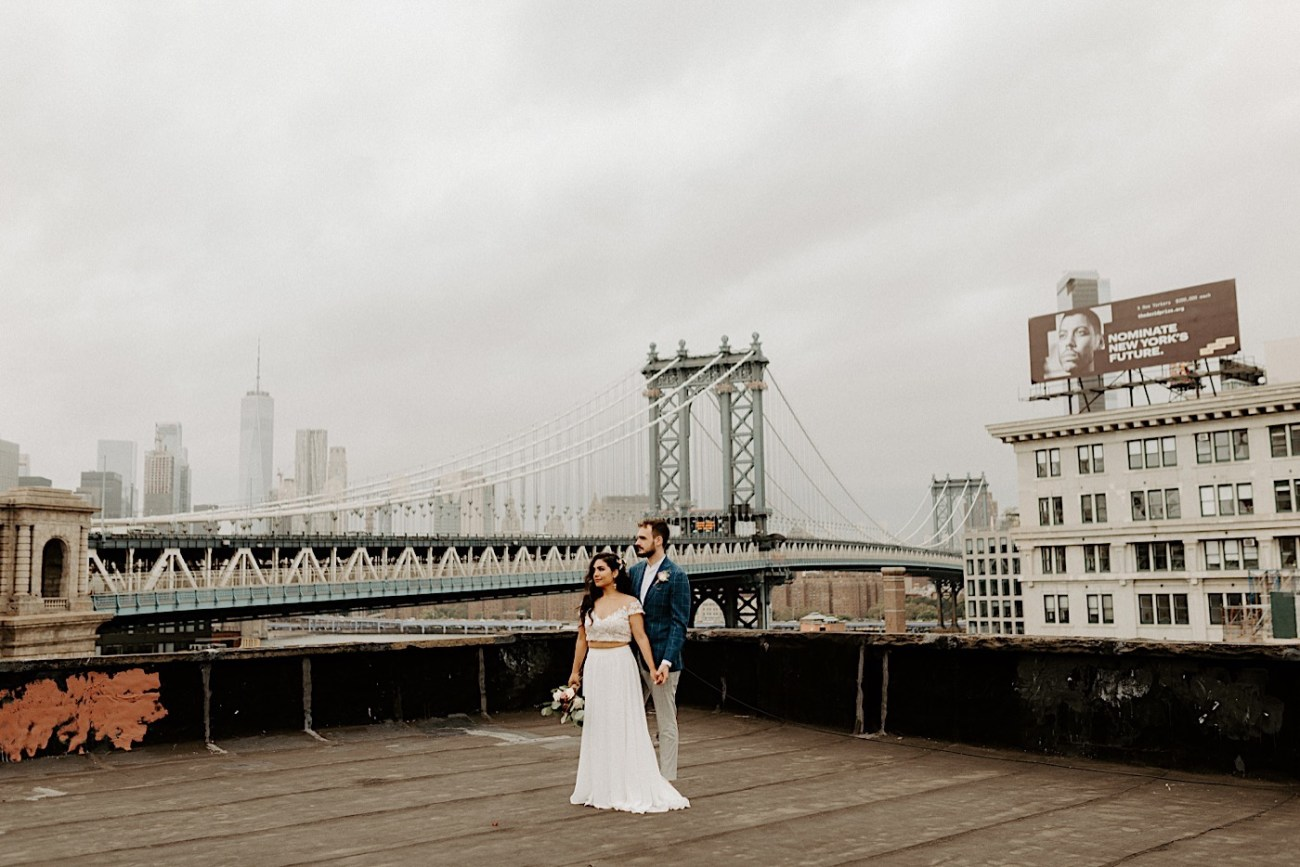 Brooklyn Elopement NYC Rooftop Wedding New York Wedding Photographer 034