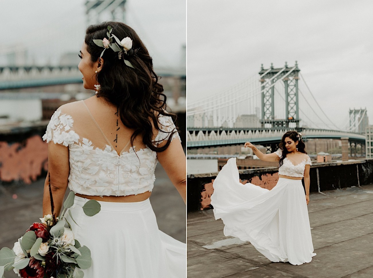 Brooklyn Elopement NYC Rooftop Wedding New York Wedding Photographer 040