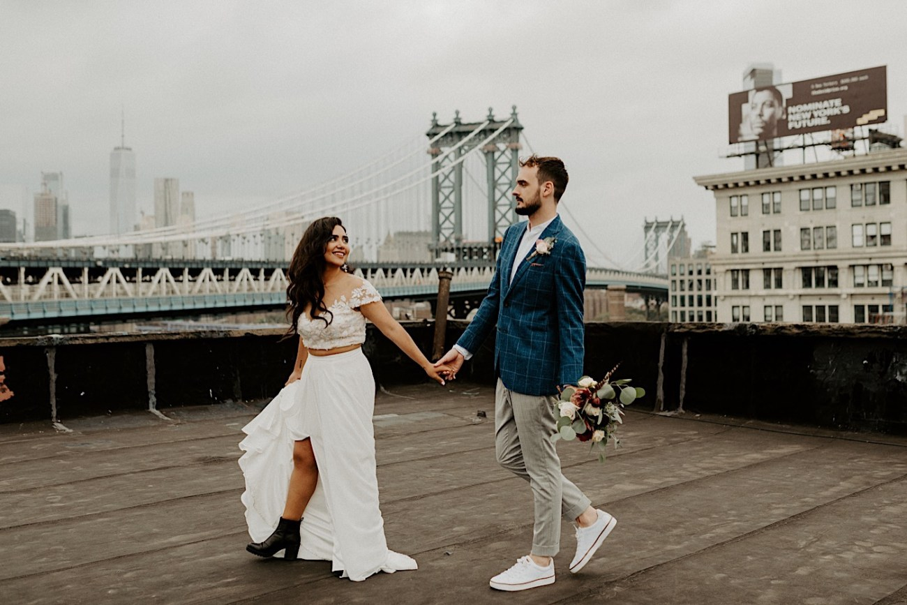 Brooklyn Elopement NYC Rooftop Wedding New York Wedding Photographer 041