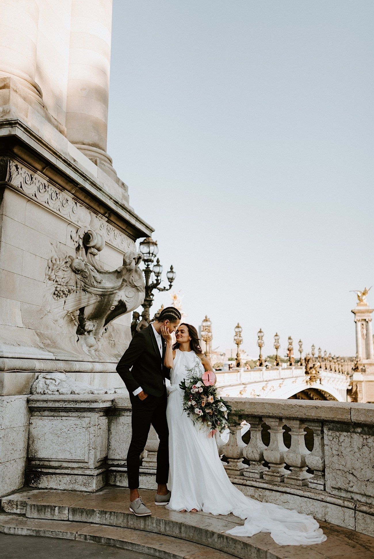 Paris Wedding Photos Paris Wedding Photographer Paris Photographe De Marriage Pont Alexandre Wedding Photos Anais Possamai Photography 22