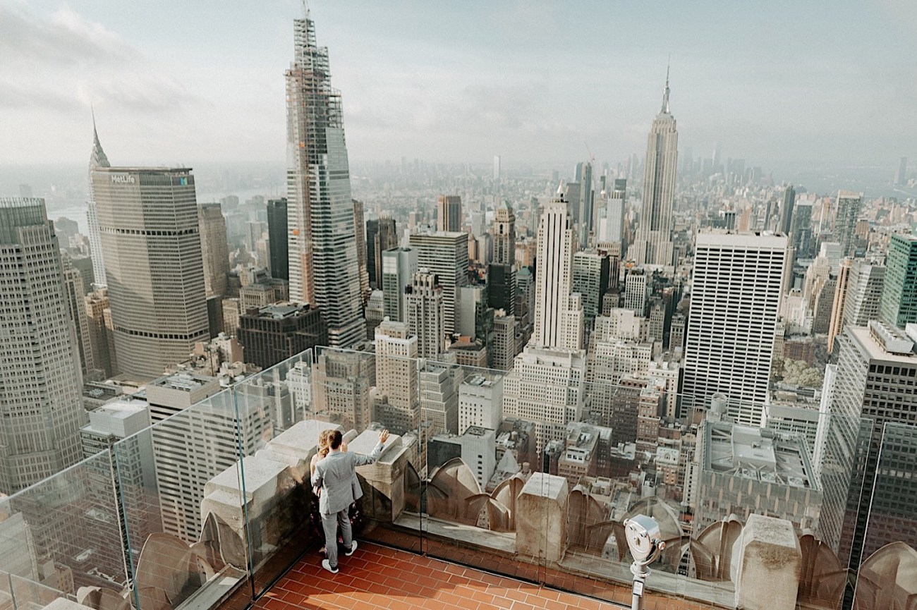 020 Top Of The Rock Engagement Photos NYC Engagement New York Wedding Photographer