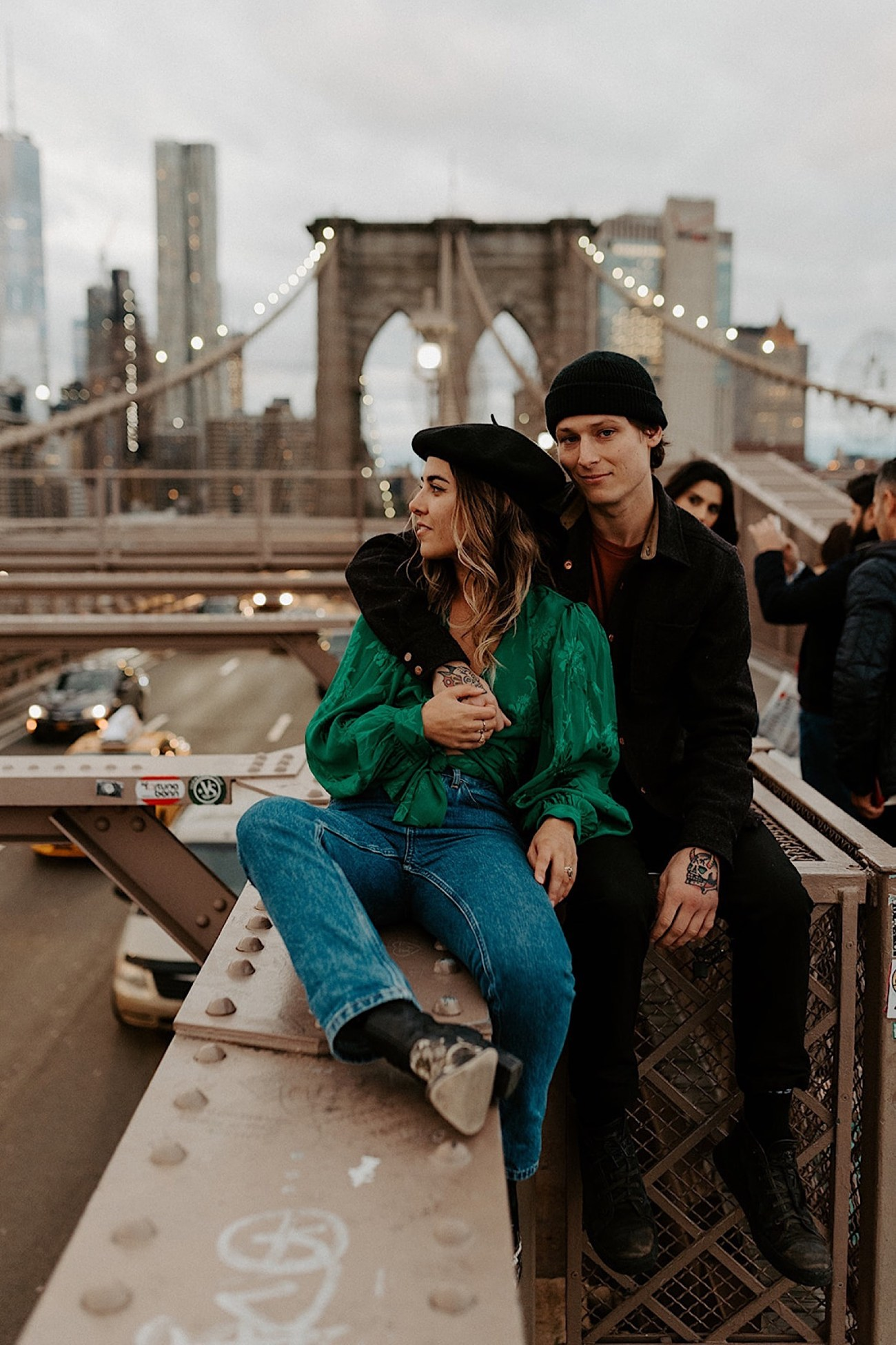 084 Brooklyn Bridge Engagement Photos Brooklyn Engagement Session NYC Wedding Photographer Washington Street Brooklyn