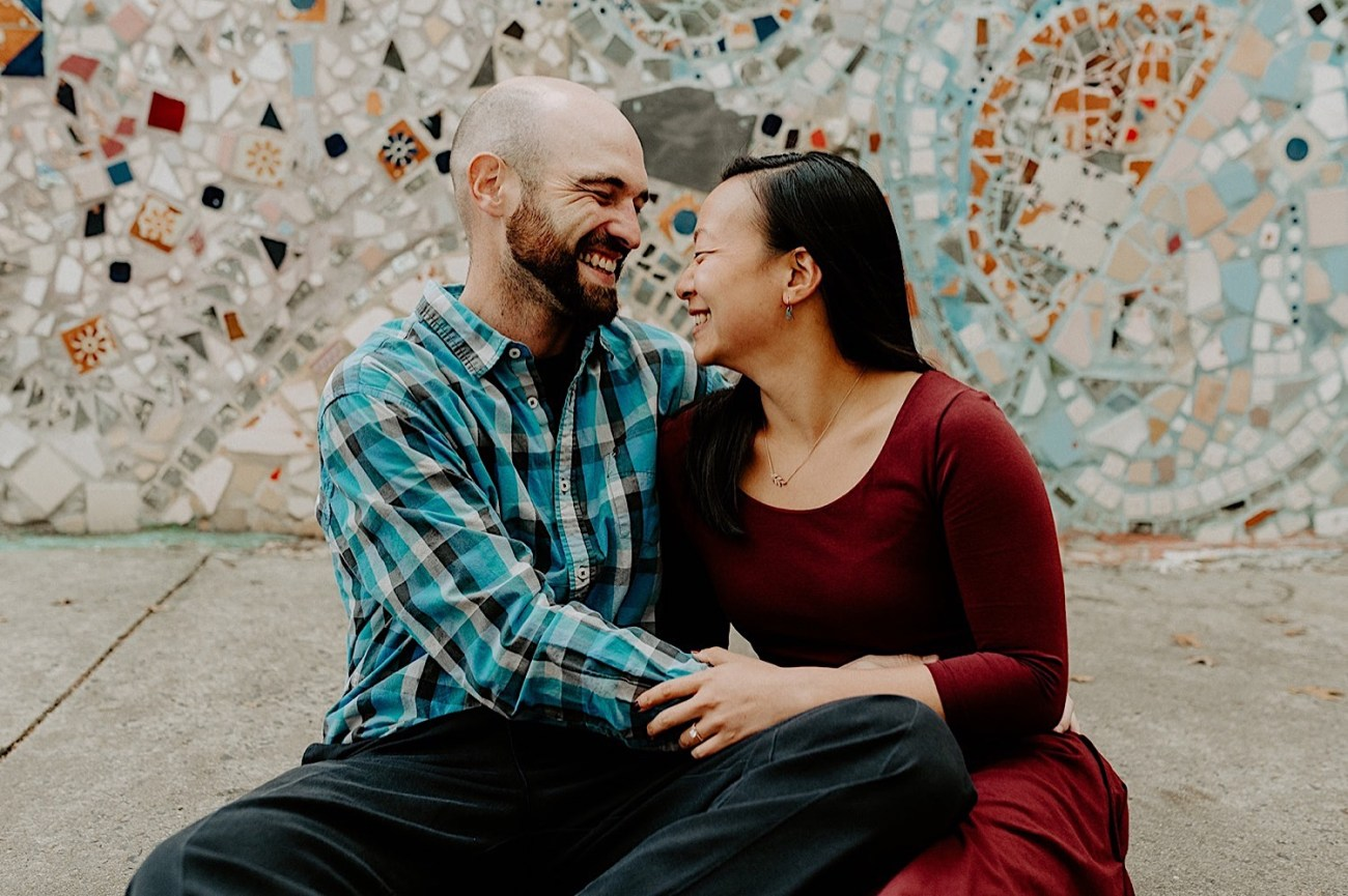 092 Magic Garden Philadelphia Engagement Photos Philadelphia Wedding Photographer