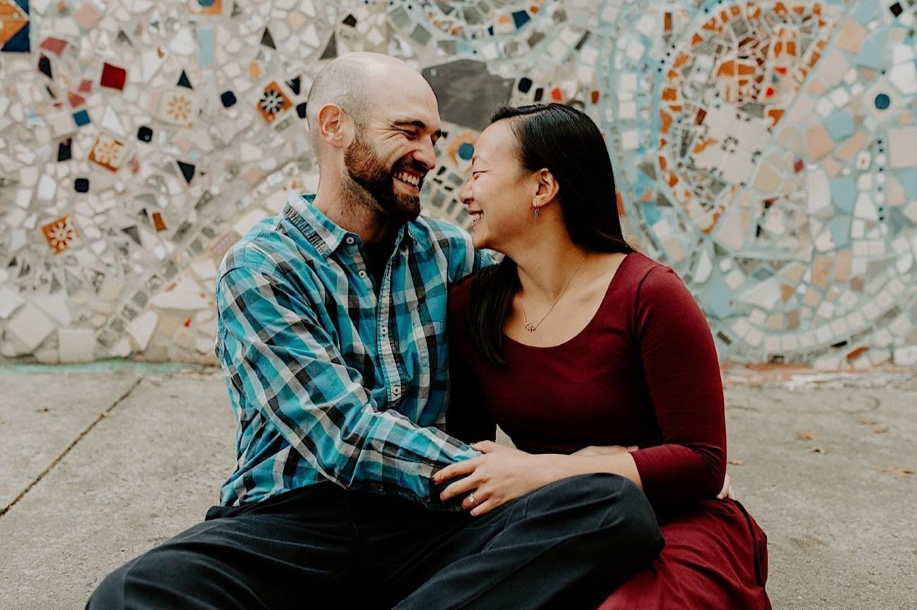 092 Magic Garden Philadelphia Engagement Photos Philadelphia Wedding Photographer