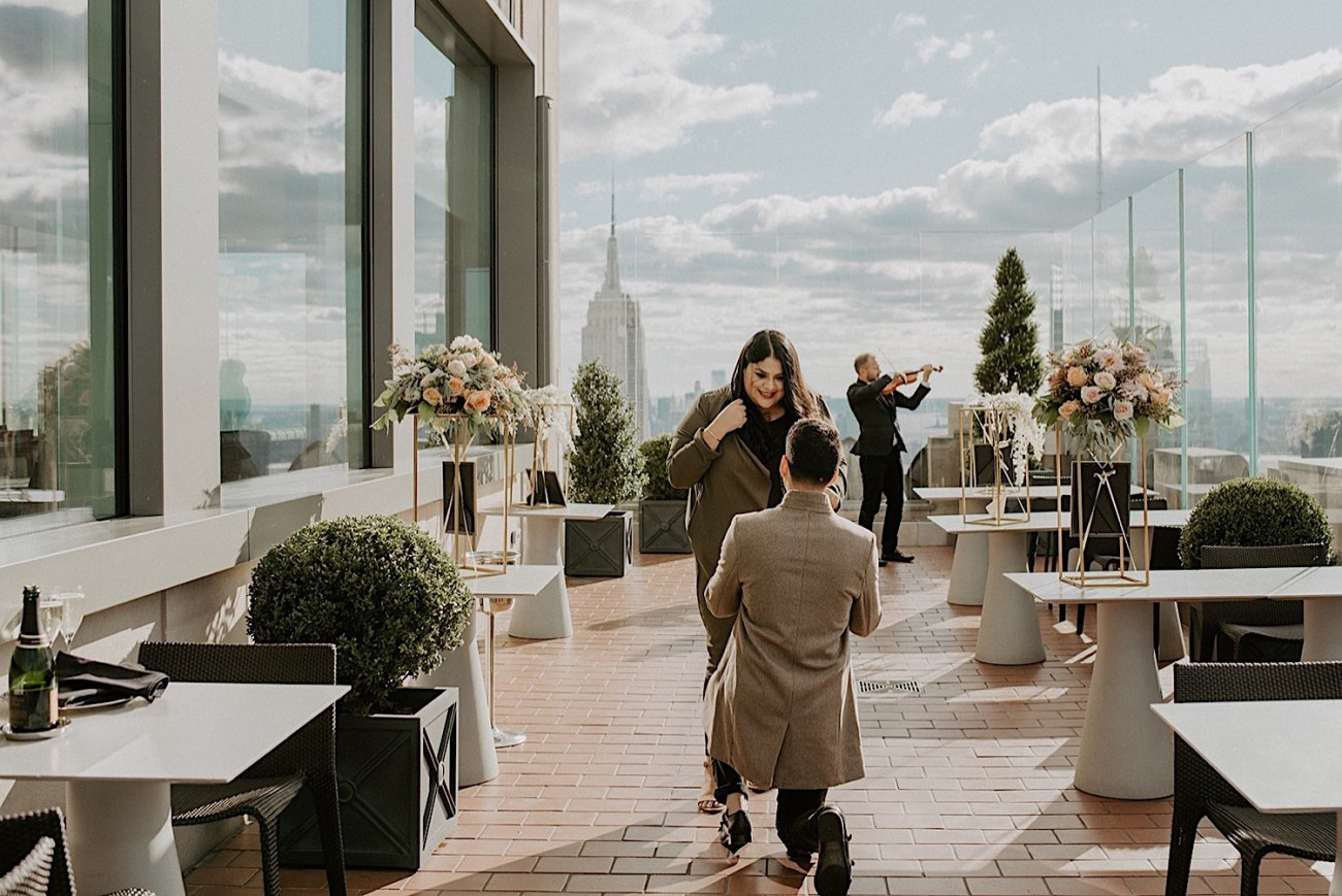 102 Top Of The Rock Proposal Top Of The Rock Enagement NYC Wedding Photographer