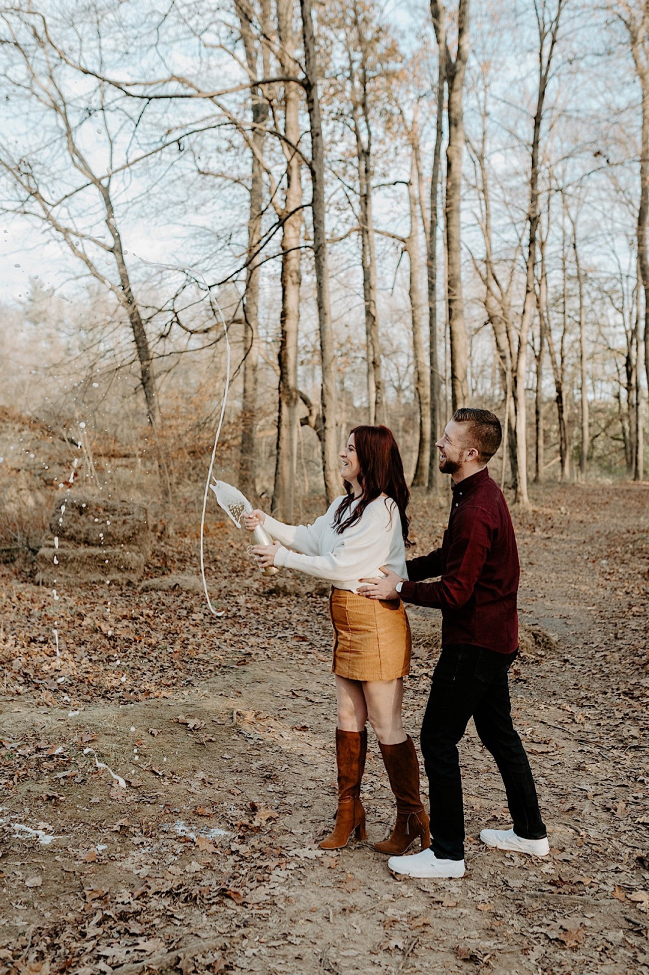 177 Tyler State Park Engagement Photos Philadelphia Wedding Photographer Pennsylvania Wedding Photographer Outdoor Engagement Photos Fall Engagement Photos