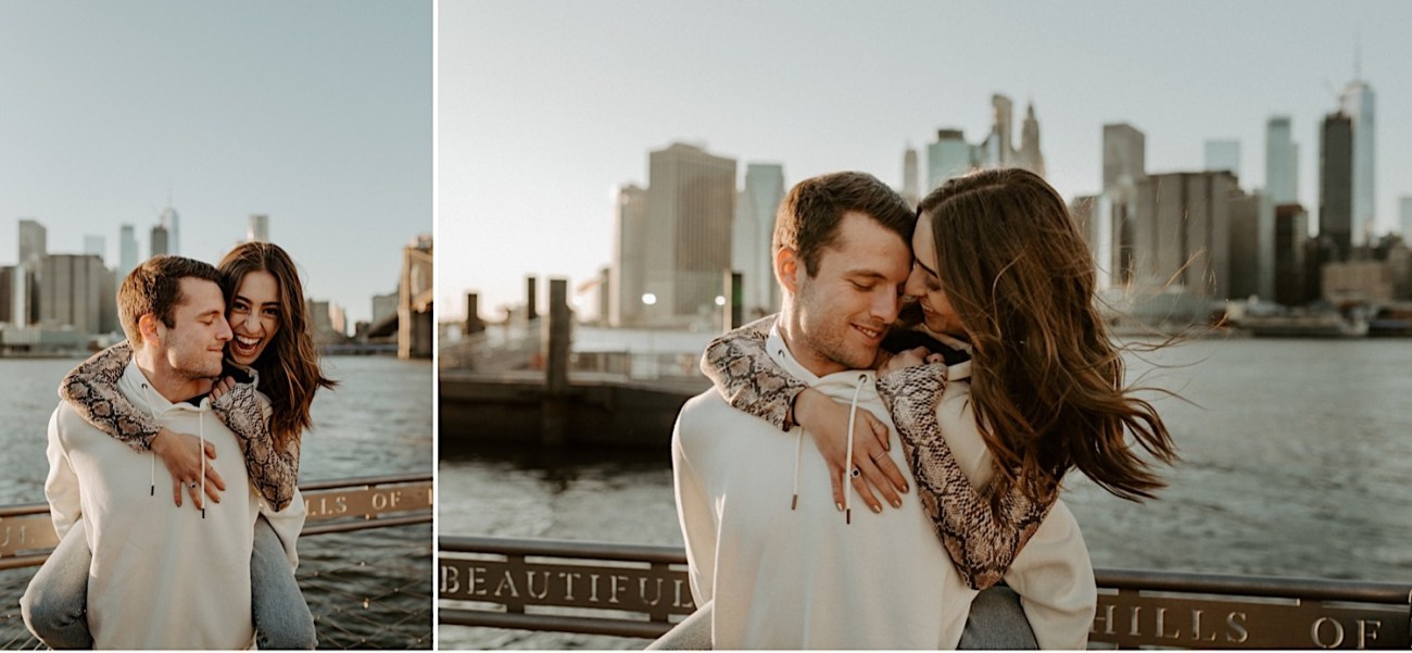 Brooklyn Bridge Sunset Engagement Photos New York City Wedding Photographer 020