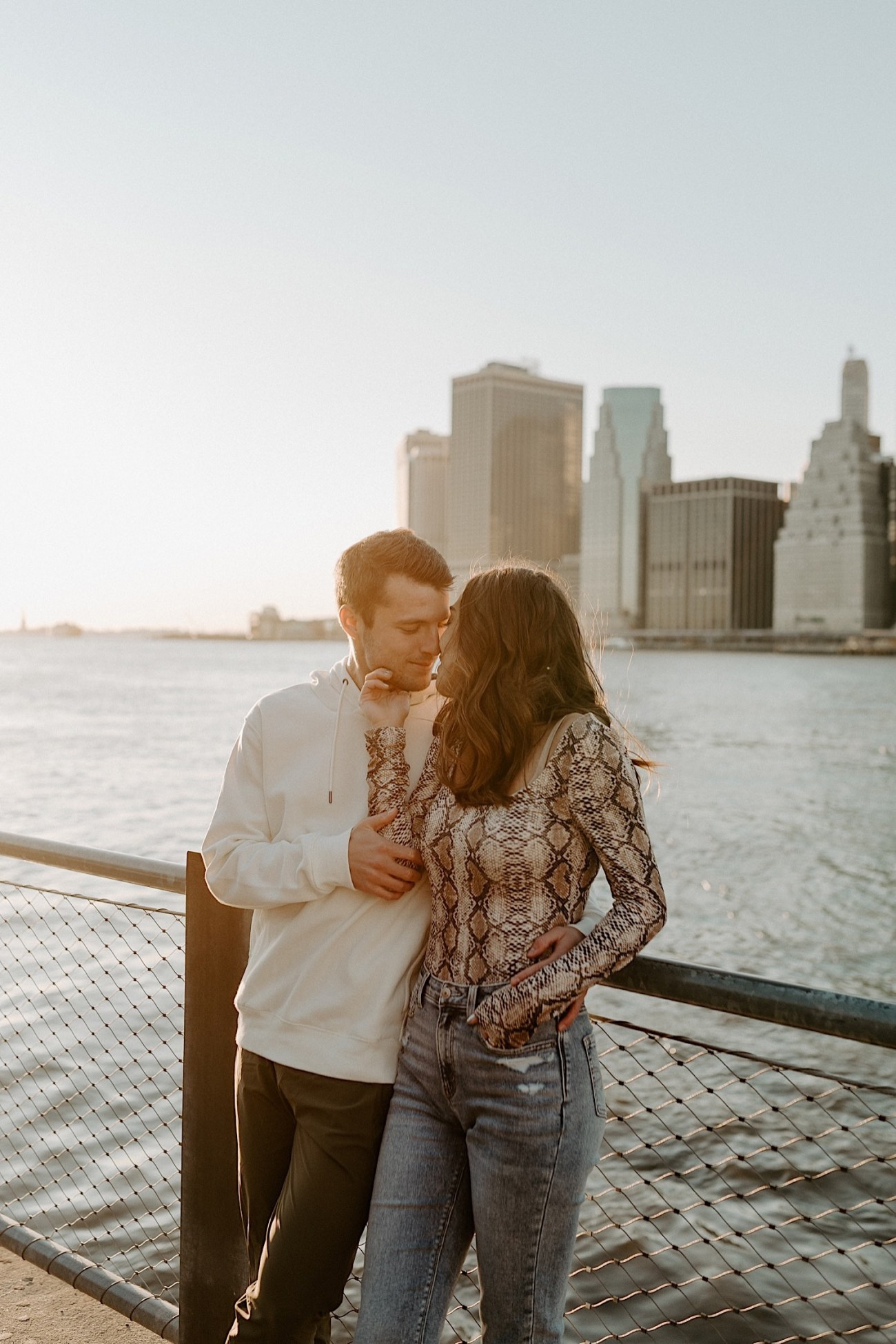 Brooklyn Bridge Sunset Engagement Photos New York City Wedding Photographer 022