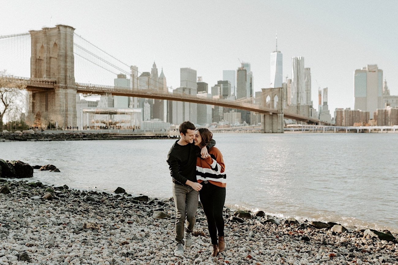 Dumbo Brooklyn Couple Session New York Wedding Photographer Fall Engagement Session NYC Engagement Photos 003