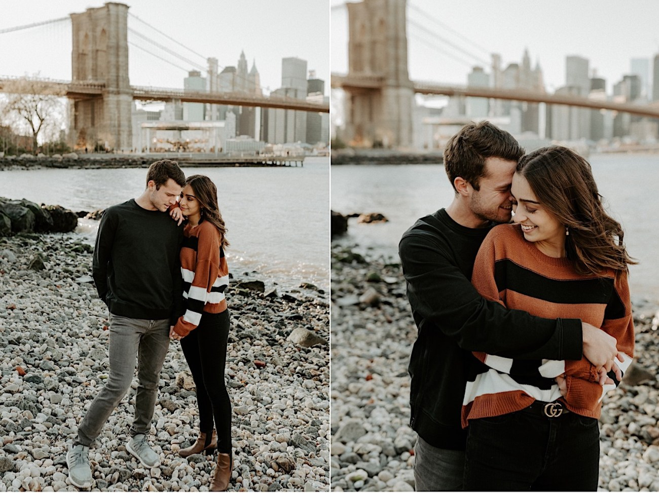 Dumbo Brooklyn Couple Session New York Wedding Photographer Fall Engagement Session NYC Engagement Photos 005