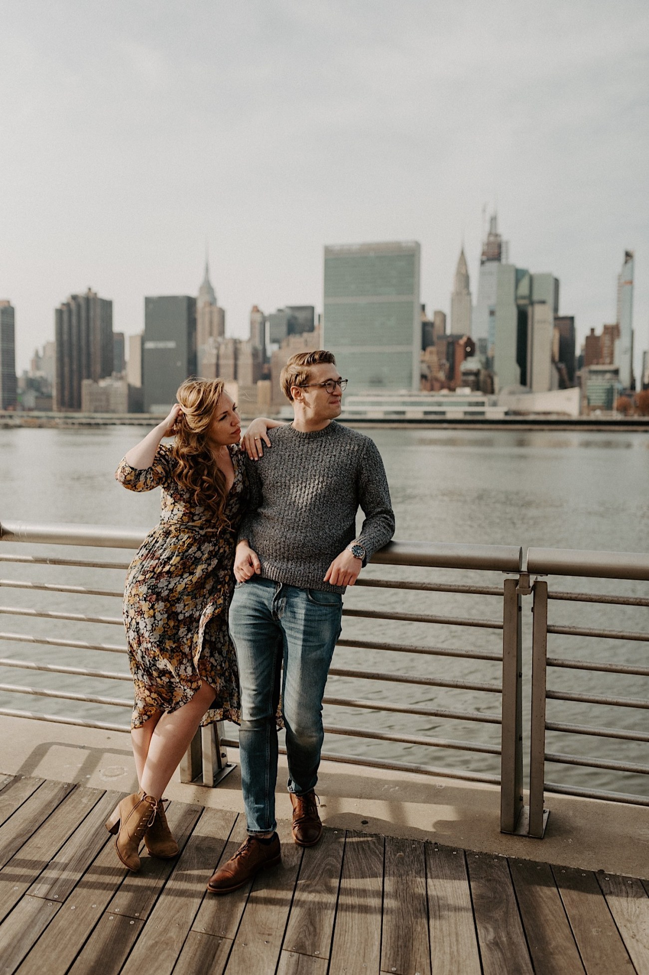 LIC Engagement Photos Pizza Engagement Photos New York Wedding Photographer LIC Boardwalk 021