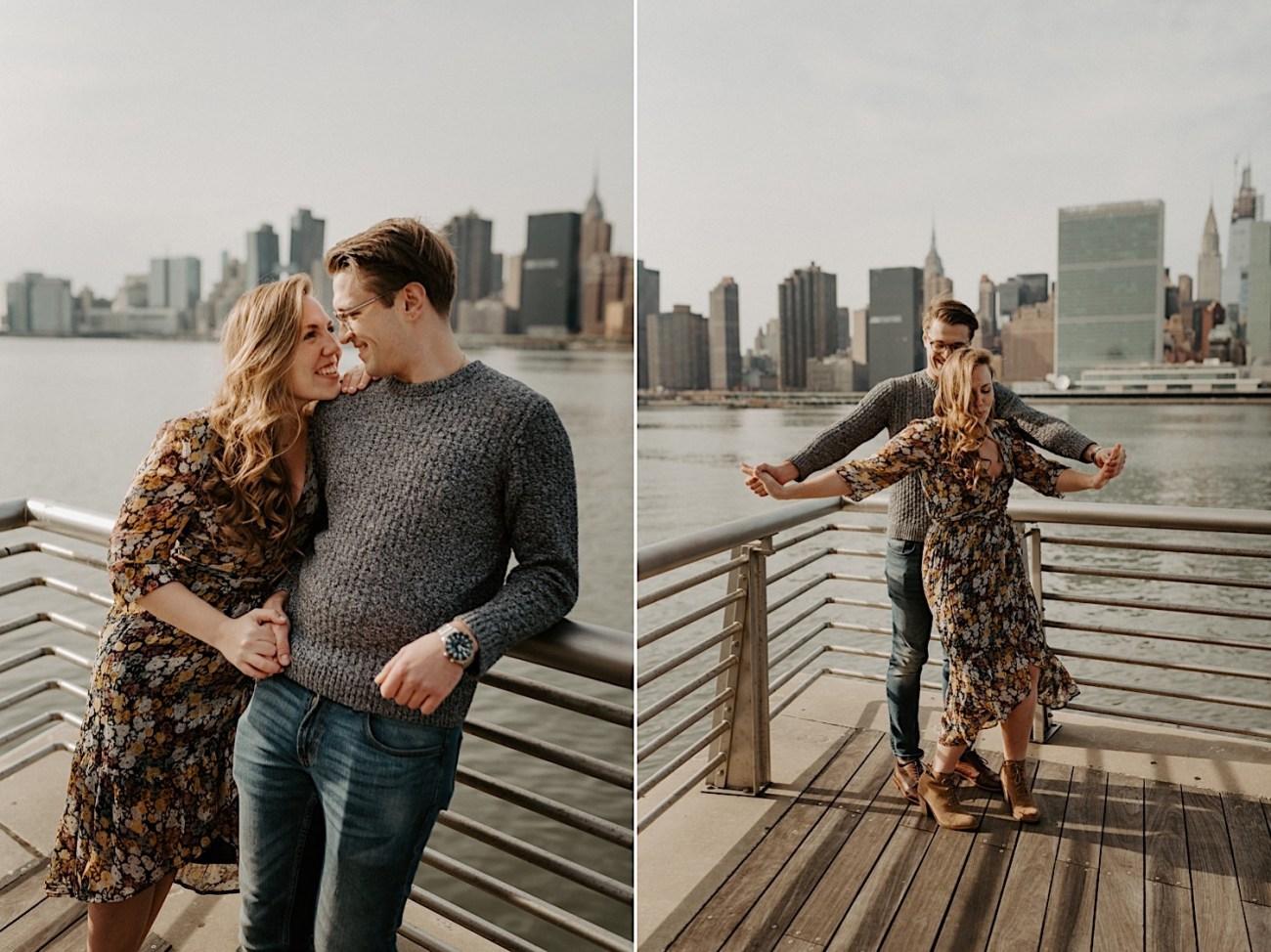 LIC Engagement Photos Pizza Engagement Photos New York Wedding Photographer LIC Boardwalk 022