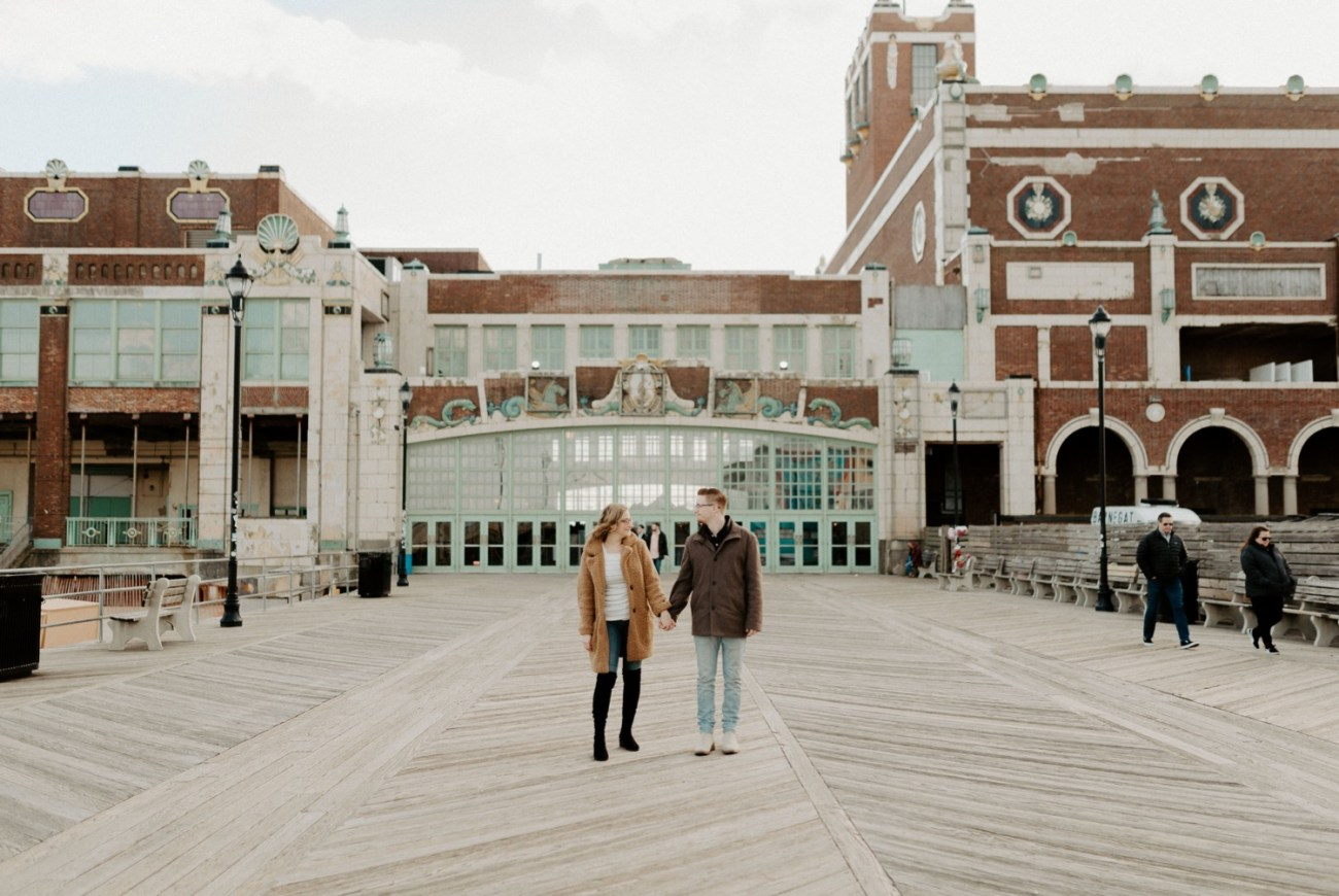 Asbury Park Engagement Photos Winter Beach Engagement Session New Jersey Wedding Photographer Anais Possamai Photography 002