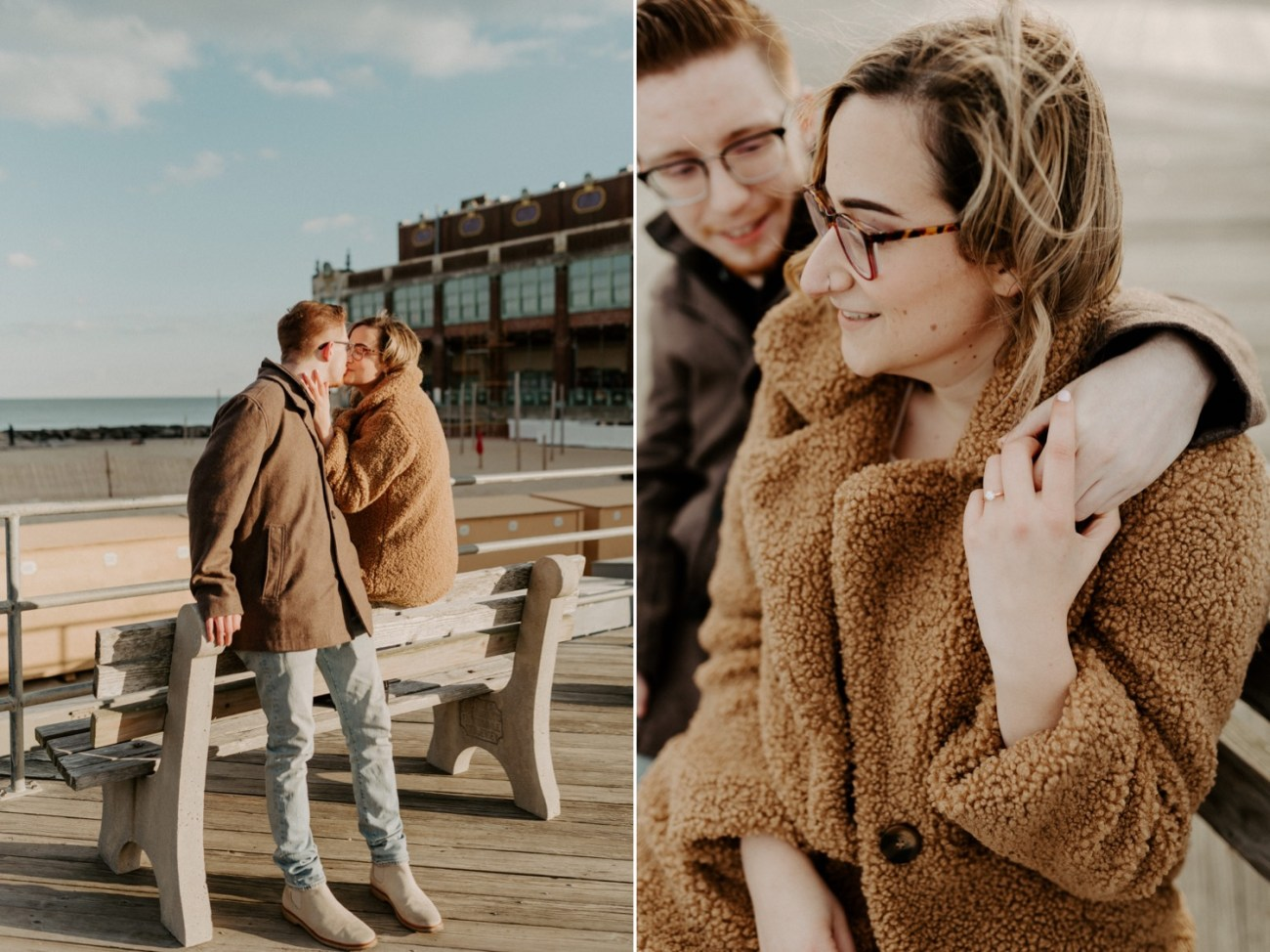 Asbury Park Engagement Photos Winter Beach Engagement Session New Jersey Wedding Photographer Anais Possamai Photography 007