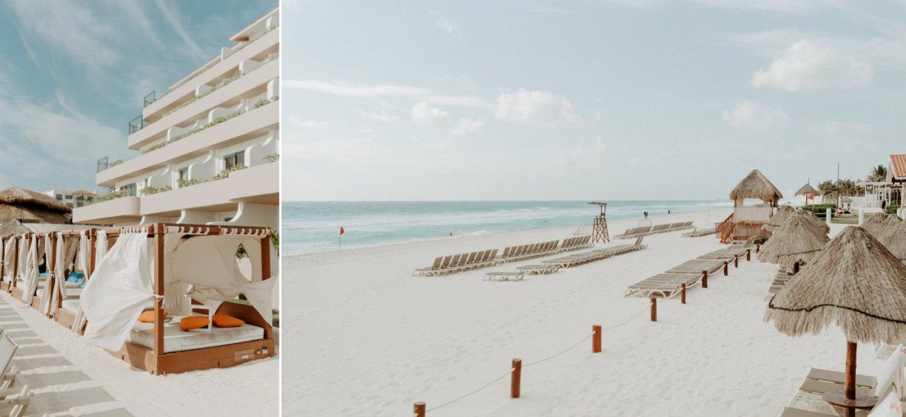 Fiesta Americana Condesa Hotel view from the beach in Cancun Mexico