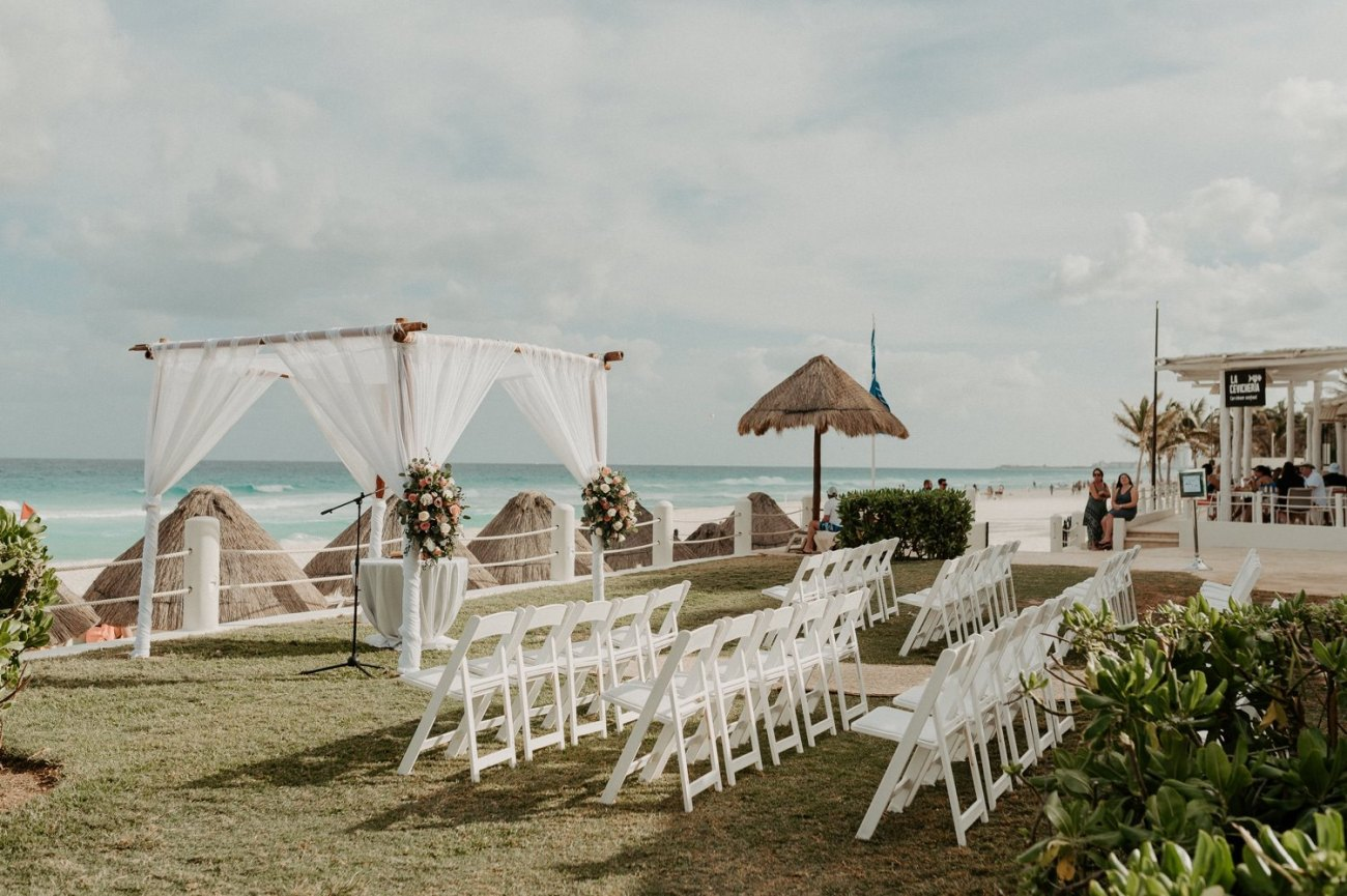 Wedding Ceremony site at the Fiesta Americana Condesa Hotel with ocean view