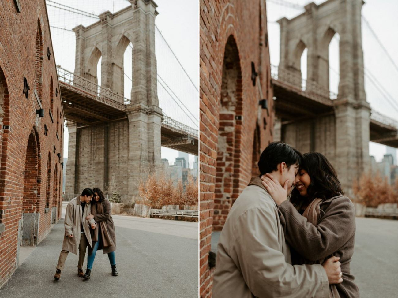 Dumbo Brooklyn Engagement Photos New York City Couple Session New York Wedding Photographer NYC Best Engagement Photos Location Anais Possamai Photography 21