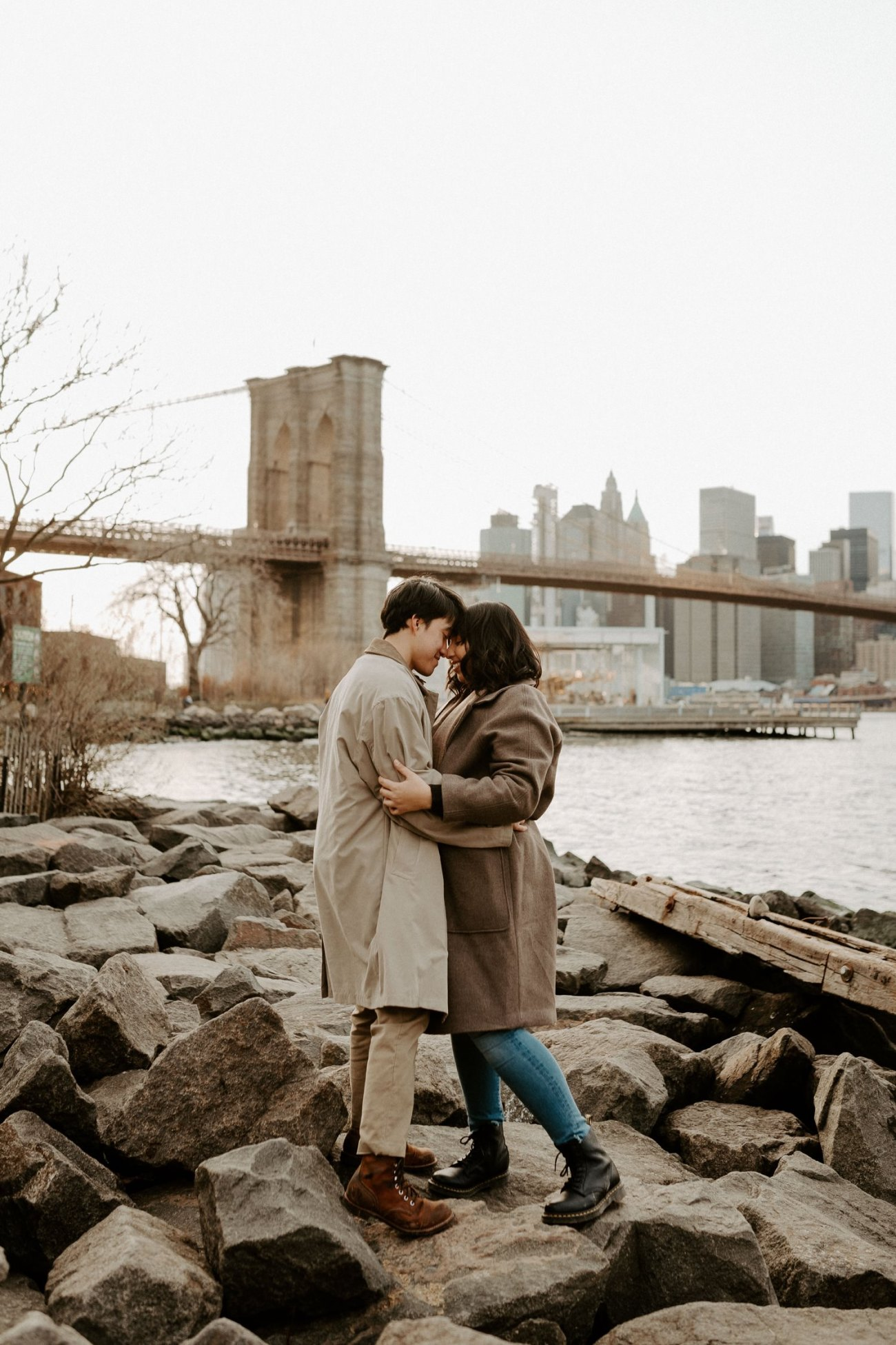 Dumbo Brooklyn Engagement Photos New York City Couple Session New York Wedding Photographer NYC Best Engagement Photos Location Anais Possamai Photography 39