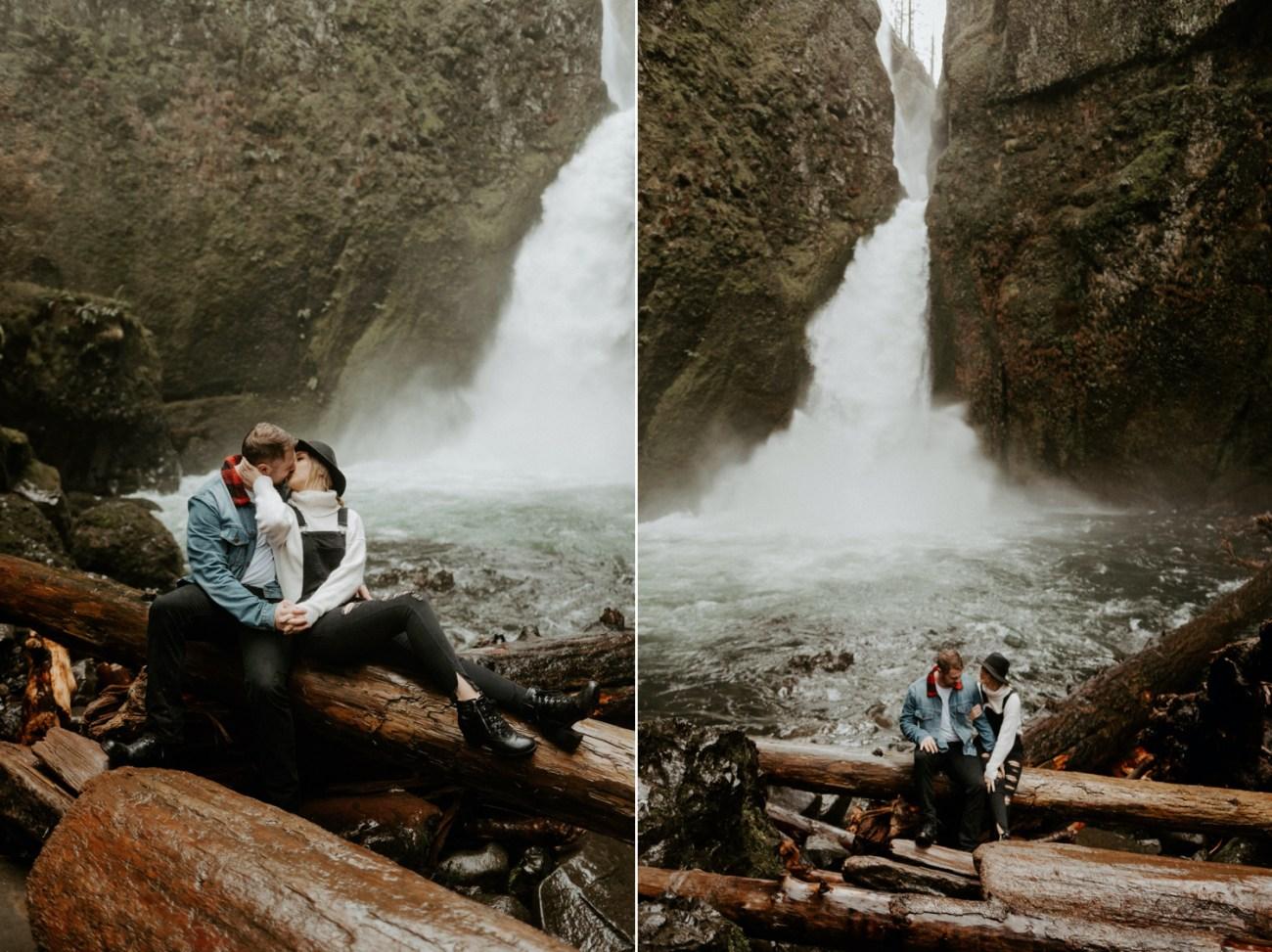 Wahclella Falls Engagement Session Columbia River Gorge Oregon Portland Wedding Photographer Anais Possamai Photography 008
