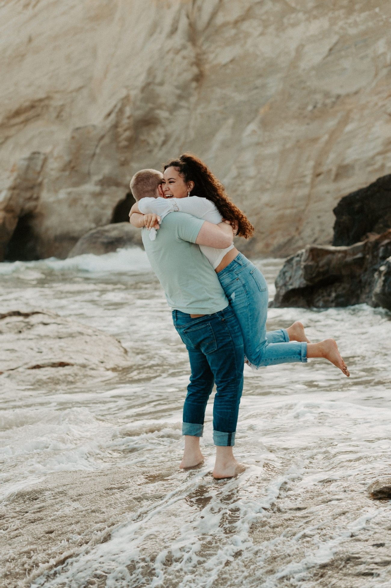 Cape Kiwanda Pacific City Oregon Couple Session Portland Wedding Photographer 005