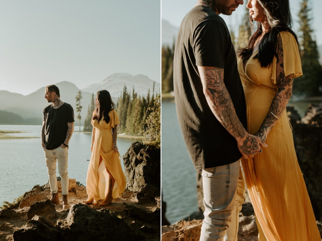 Sparks Lake Bend Oregon Elopement Bend Wedding Photographer PNW Elopement Best Elopement Locations In Oregon 003