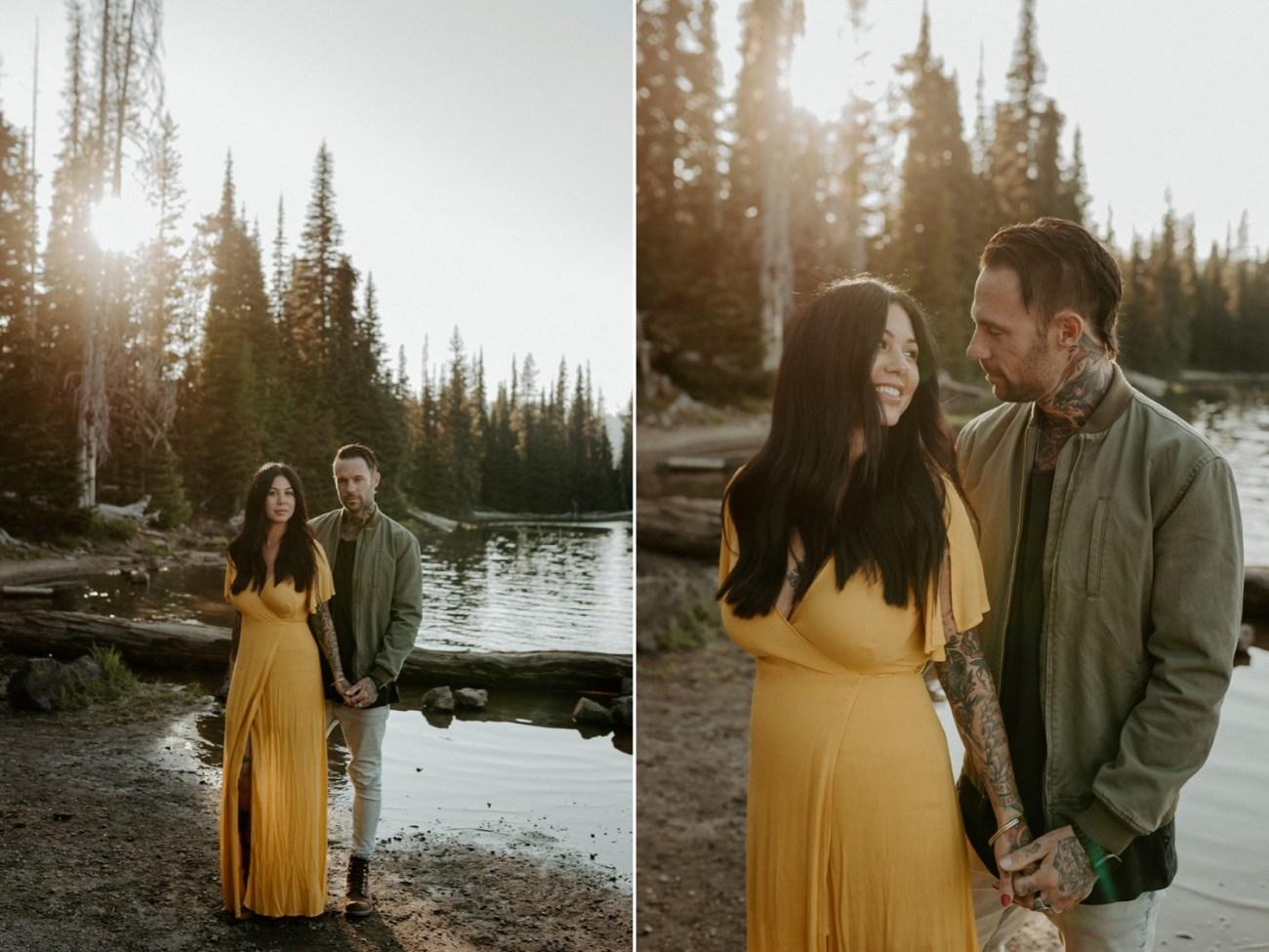 Sparks Lake Engagement Session Bend Oregon Elopement Bend Wedding Photographer Anais Possamai Photography 004
