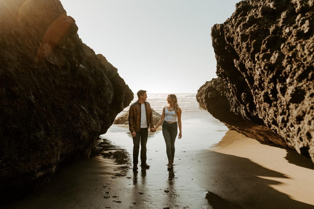Yachats Oregon Coast Cape Perpetua Engagement Session Bend Wedding Photographer Anais Possamai Photography 002