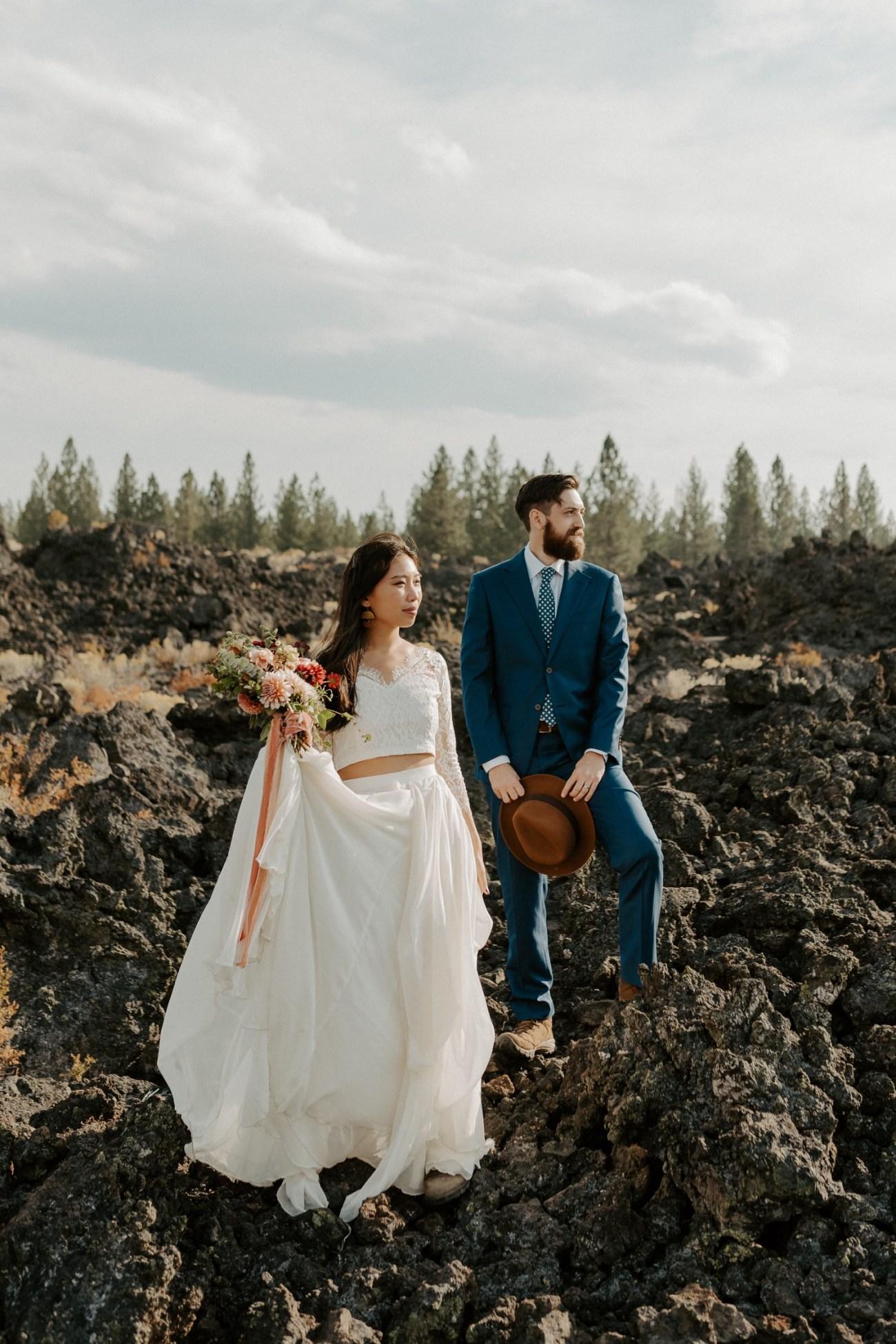 Newberry Volcano Elopement Bend Elopement Bridal Session Bend Wedding Photographer Anais Possamai Photography 007