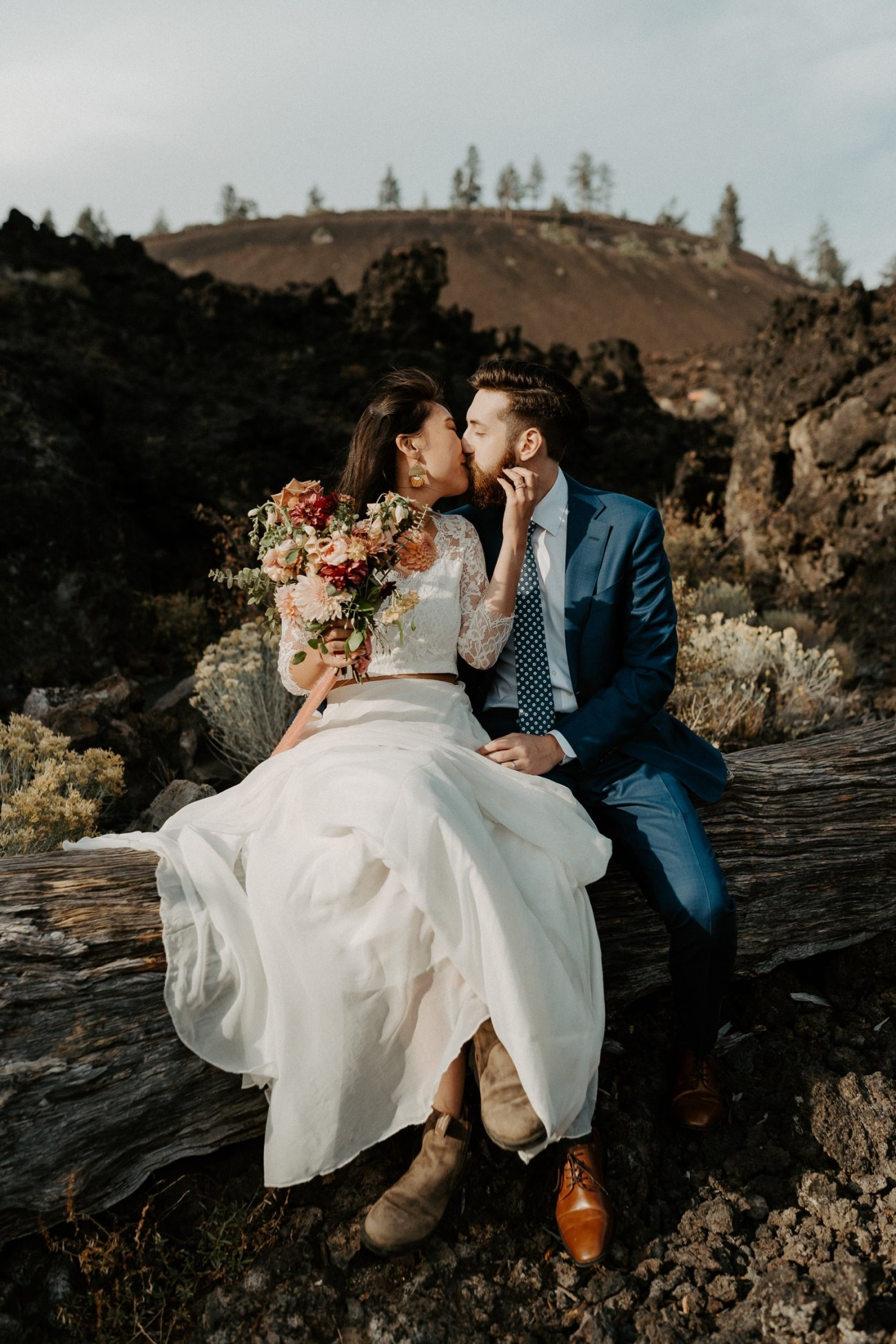 Newberry Volcano Elopement Bend Elopement Bridal Session Bend Wedding Photographer Anais Possamai Photography 016