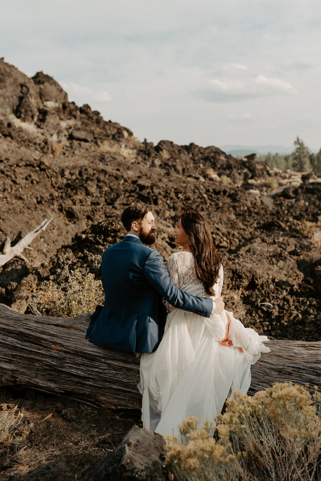 Newberry Volcano Elopement Bend Elopement Bridal Session Bend Wedding Photographer Anais Possamai Photography 018