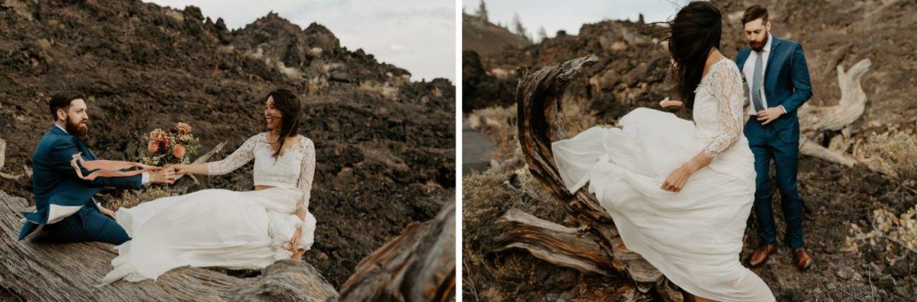 Newberry Volcano Elopement Bend Elopement Bridal Session Bend Wedding Photographer Anais Possamai Photography 021