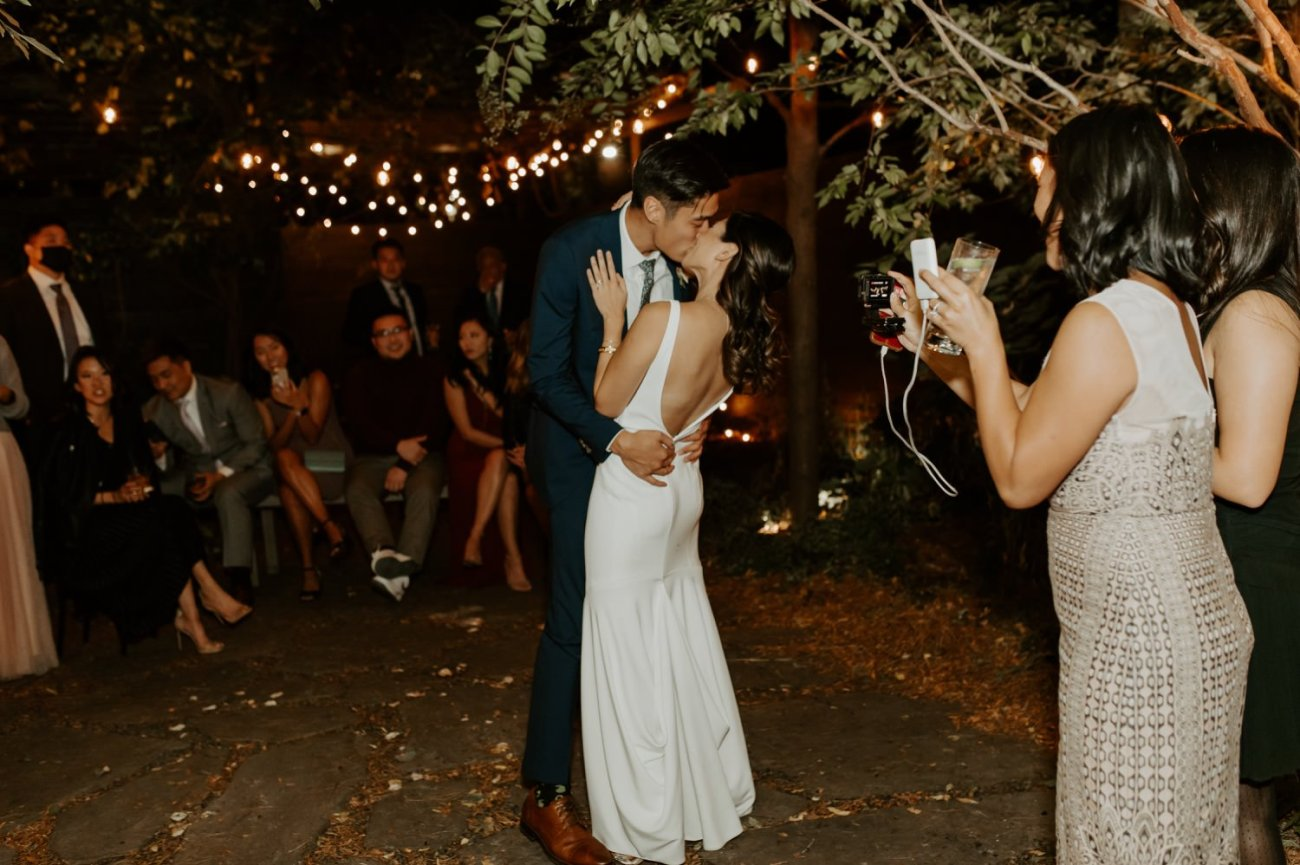 Brooklyn Backyard Wedding In Brownstone House New York City Wedding Photographer Anais Possamai Photography 44