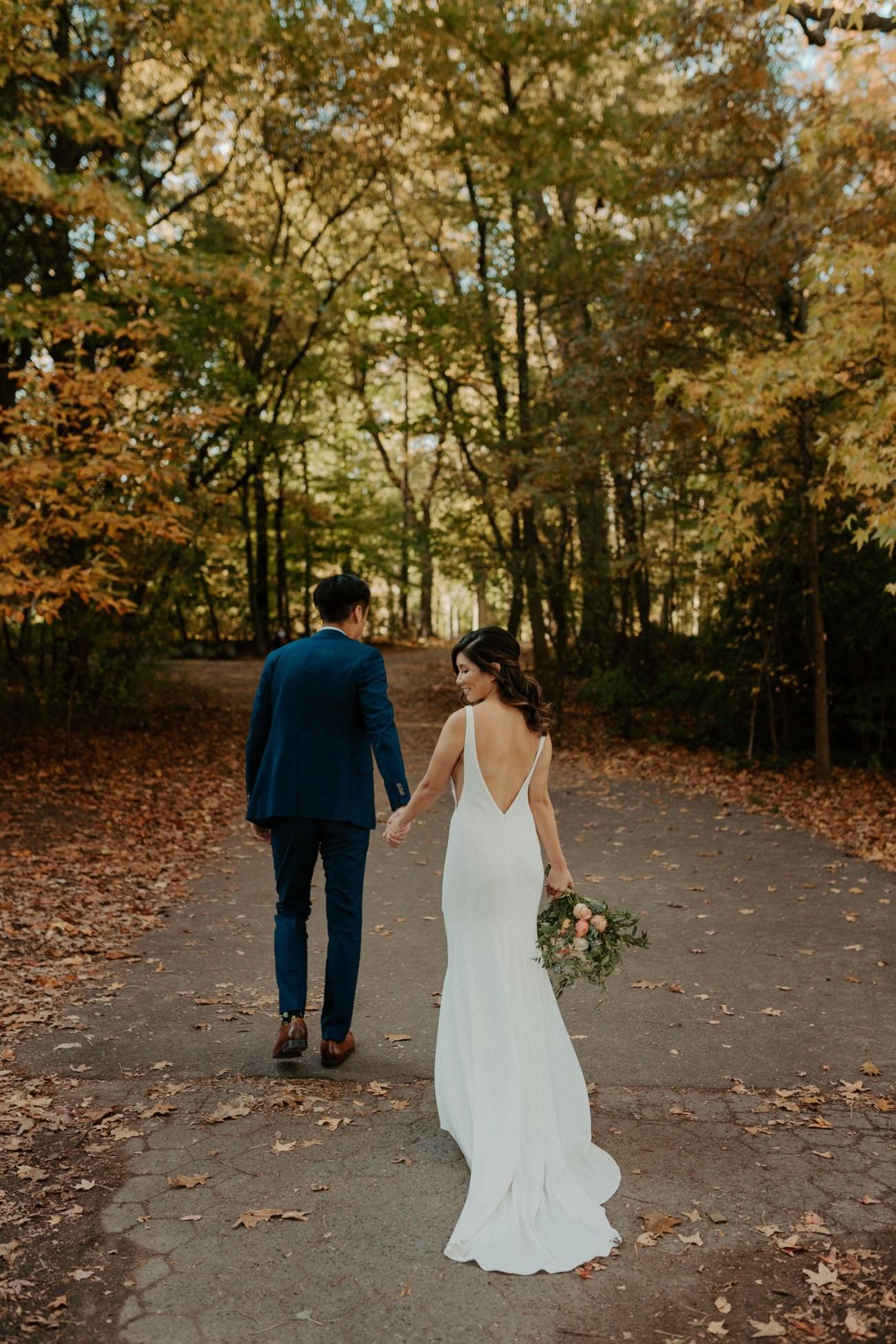 Prospect Park Brooklyn Wedding Fall Wedding In NYC New York Wedding Photographer Anais Possamai Photography 19