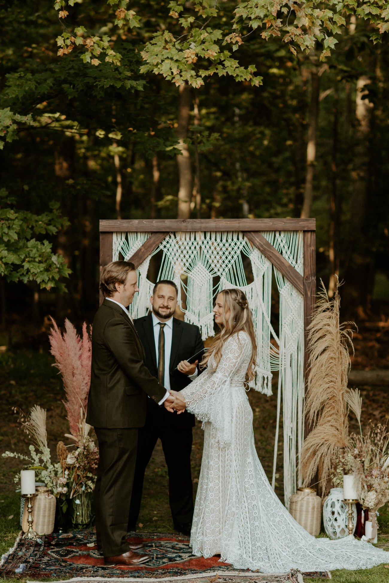 Vintage Boho Diy Backyard Wedding In New Jersey Anais Possamai Photography 067