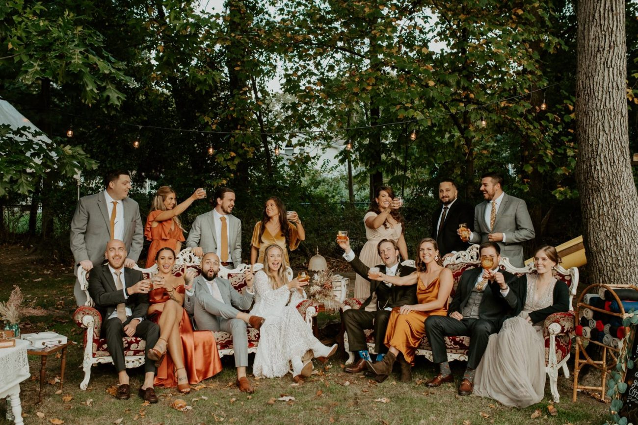 Vintage Boho Diy Backyard Wedding In New Jersey Anais Possamai Photography 100