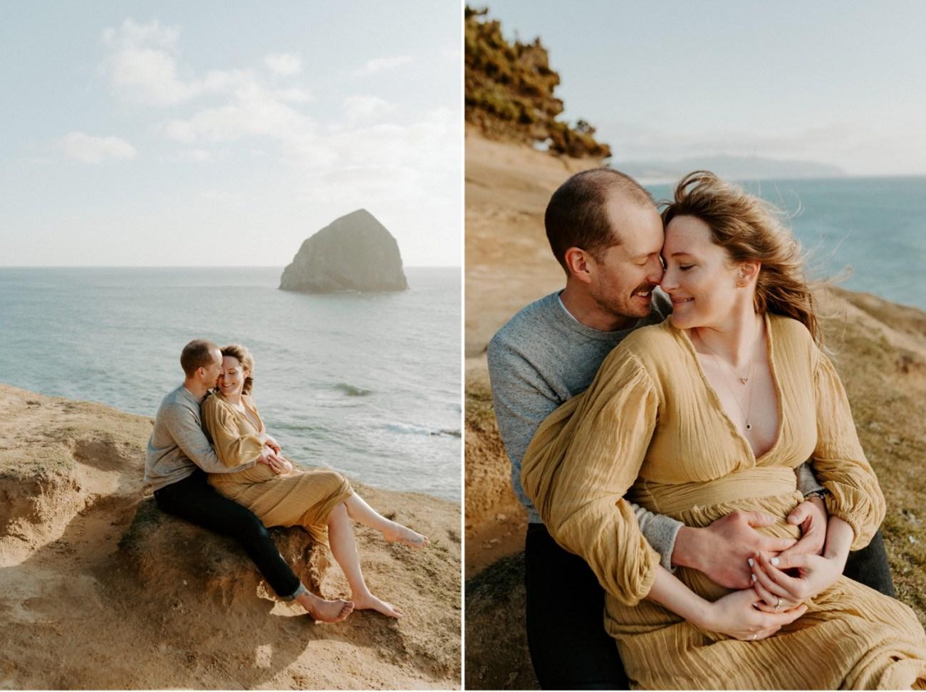 Pacific City Oregon Maternity Session Cape Kiwanda Couple Session Bend Wedding Photogtapher Anais Possamai Photography 004