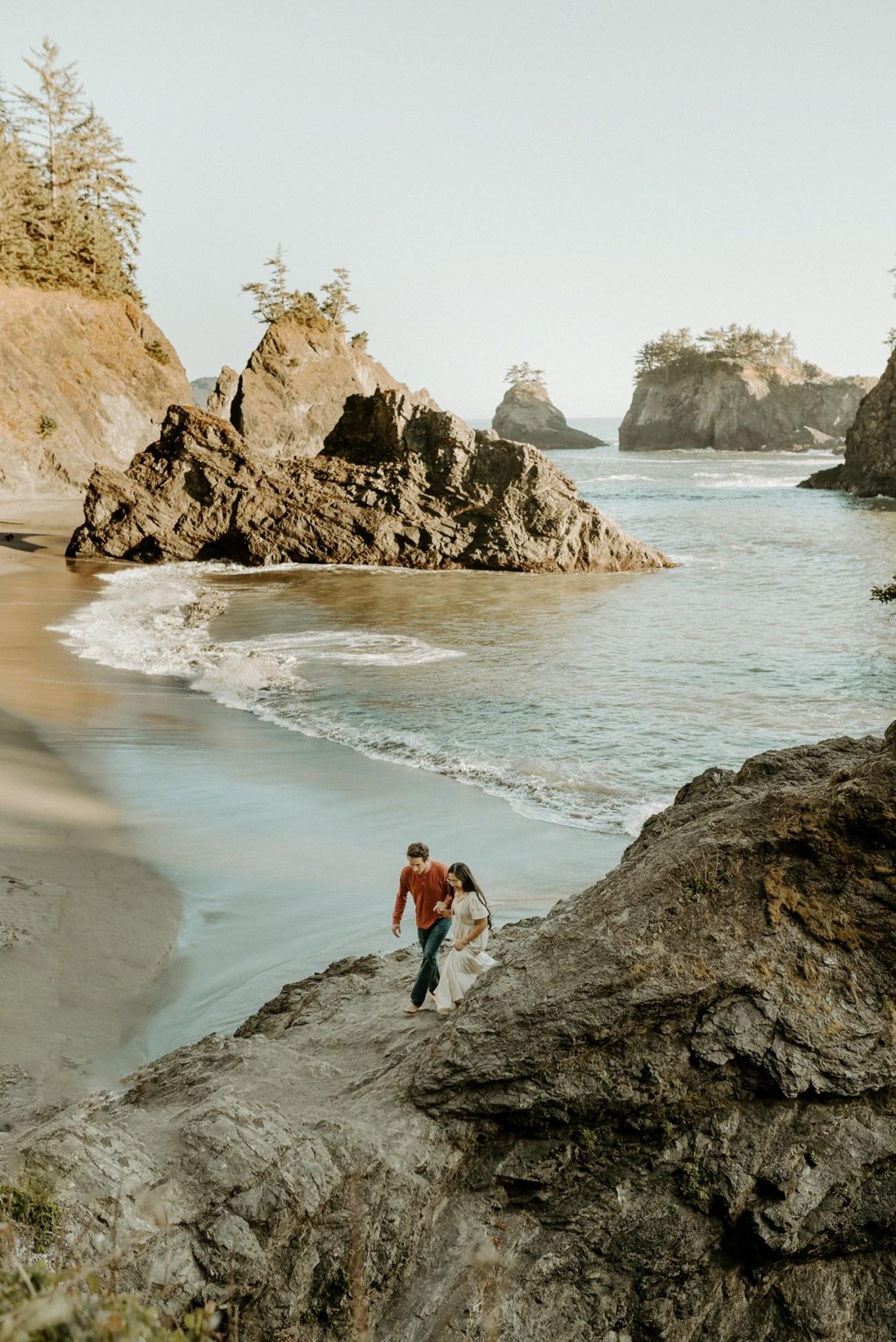 Oregon Coast Brookings Engagement Session Anais Possamai Photography 26