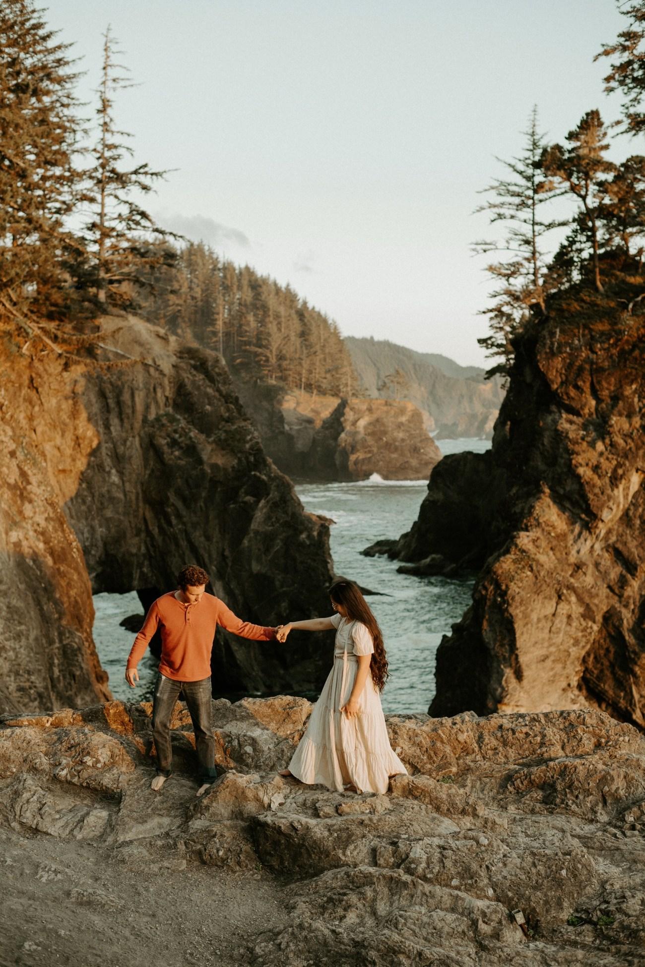 Oregon Coast Samuel H Boardman Engagement Session Anais Possamai Photography 16