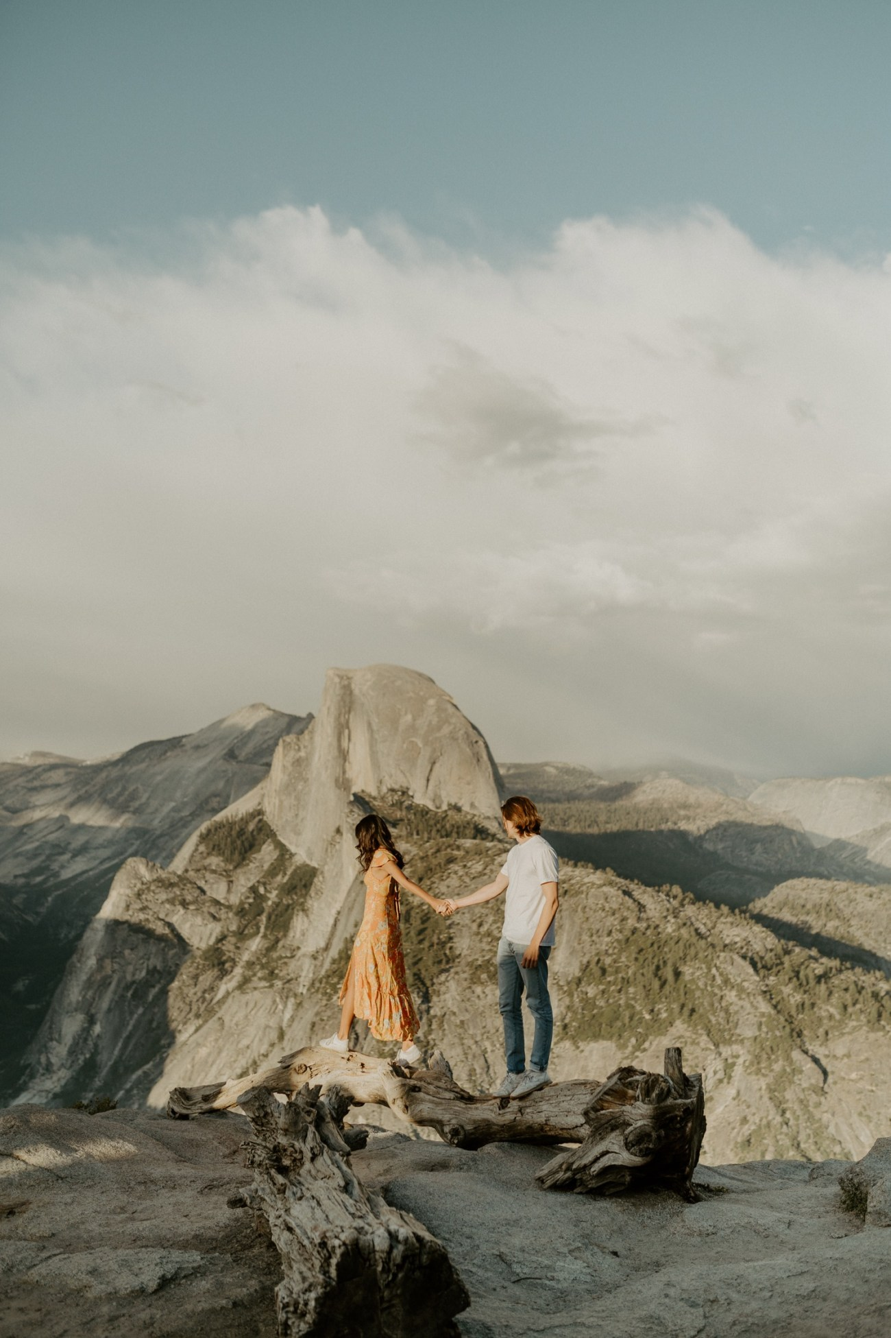 Sunset Yosemite Glacier Point Engagement Session Anais Possamai Photography 06