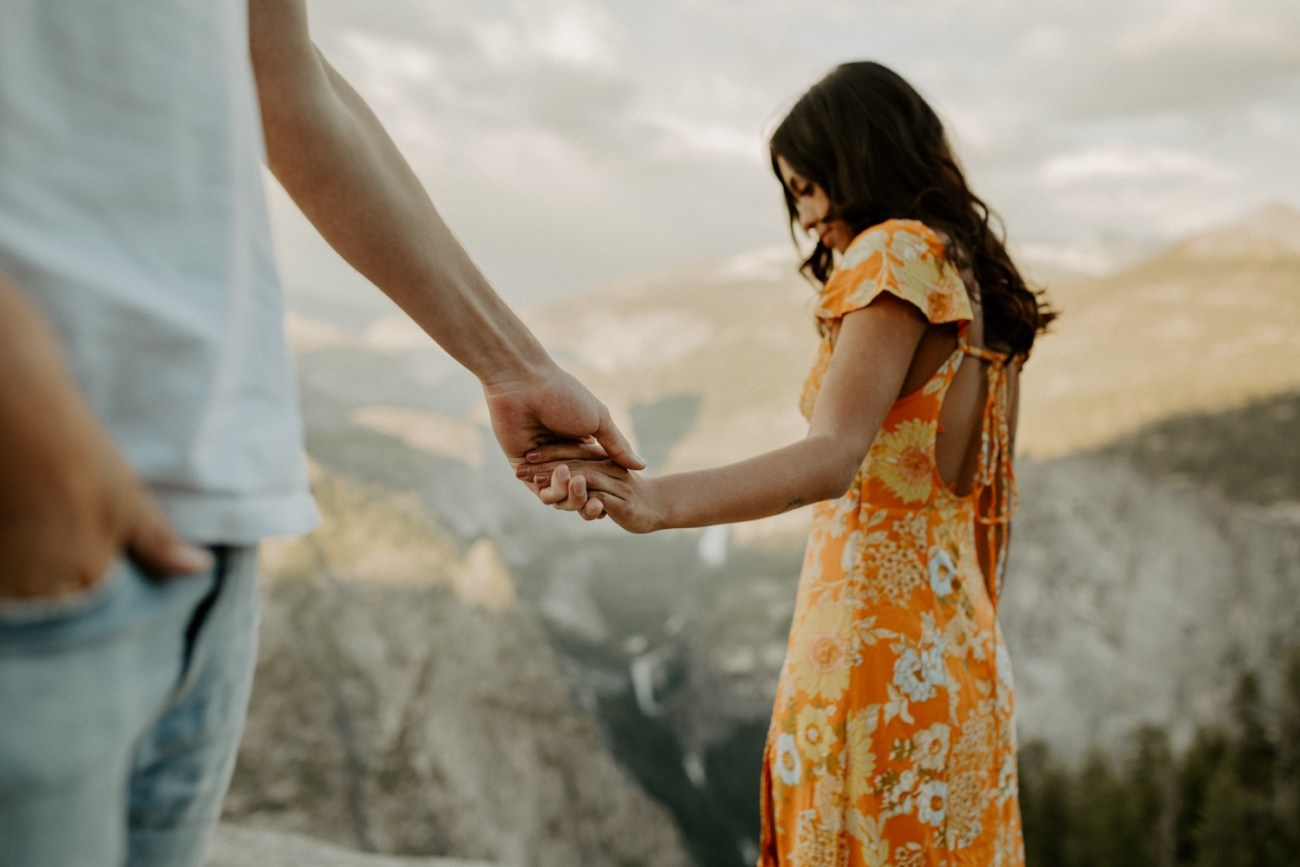Sunset Yosemite Glacier Point Engagement Session Anais Possamai Photography 19