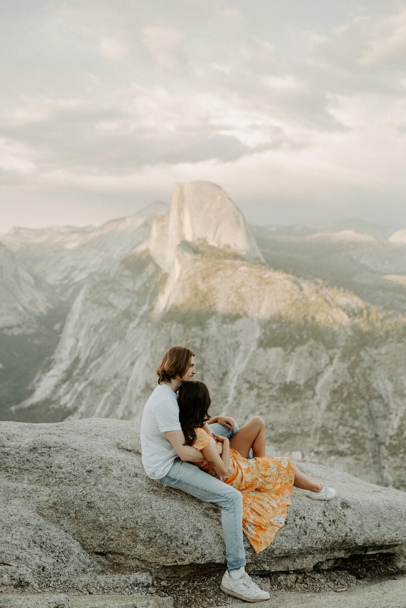 Sunset Yosemite Glacier Point Engagement Session Anais Possamai Photography 23