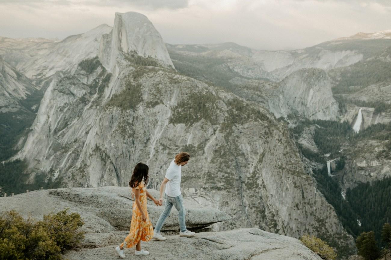 Sunset Yosemite Glacier Point Engagement Session Anais Possamai Photography 27