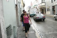 Walking on the streets of Merida